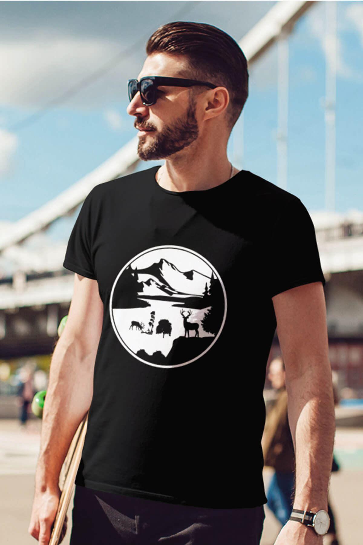 View Siyah Outdoor Erkek Tshirt - Tişört
