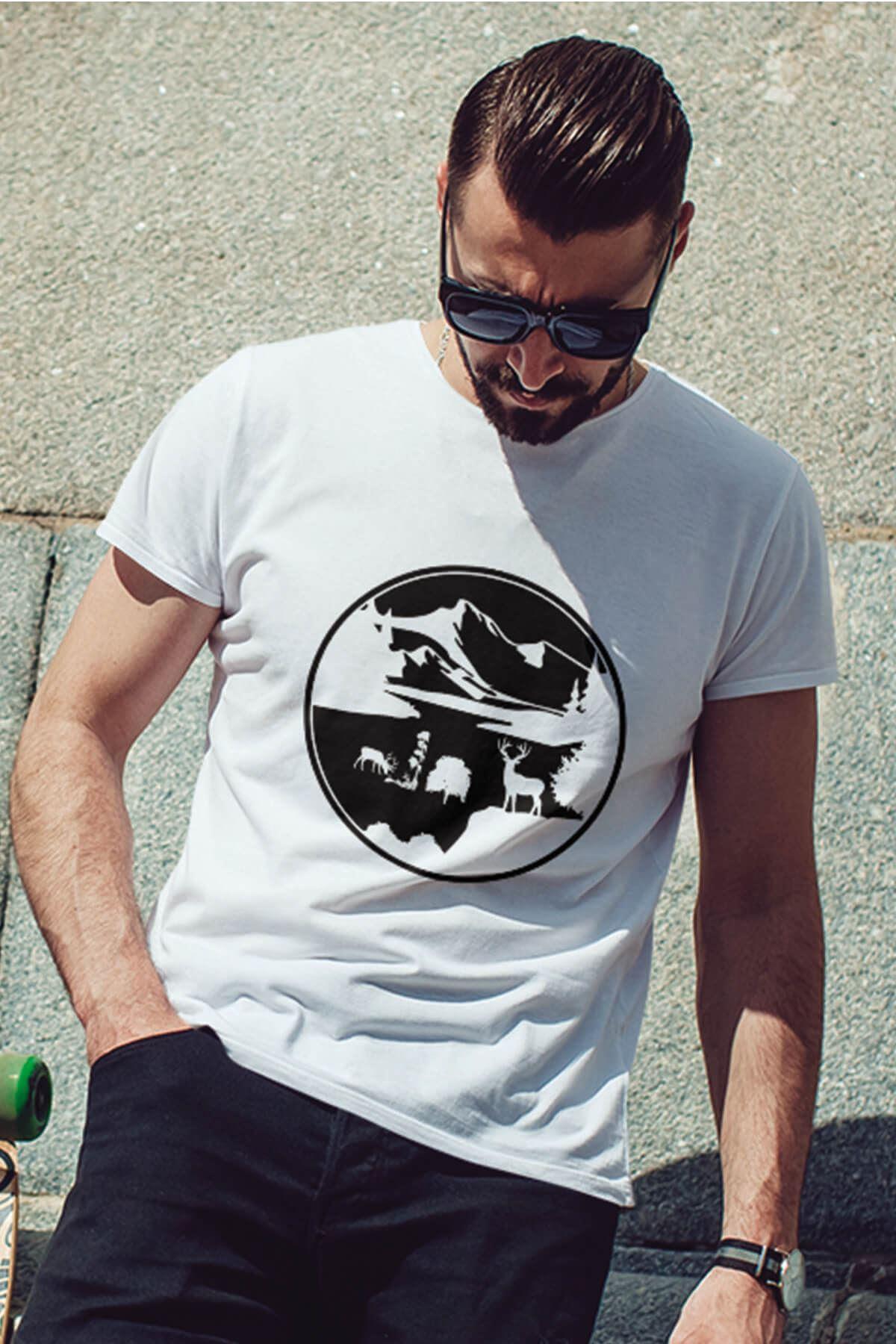 View Beyaz Outdoor Erkek Tshirt - Tişört