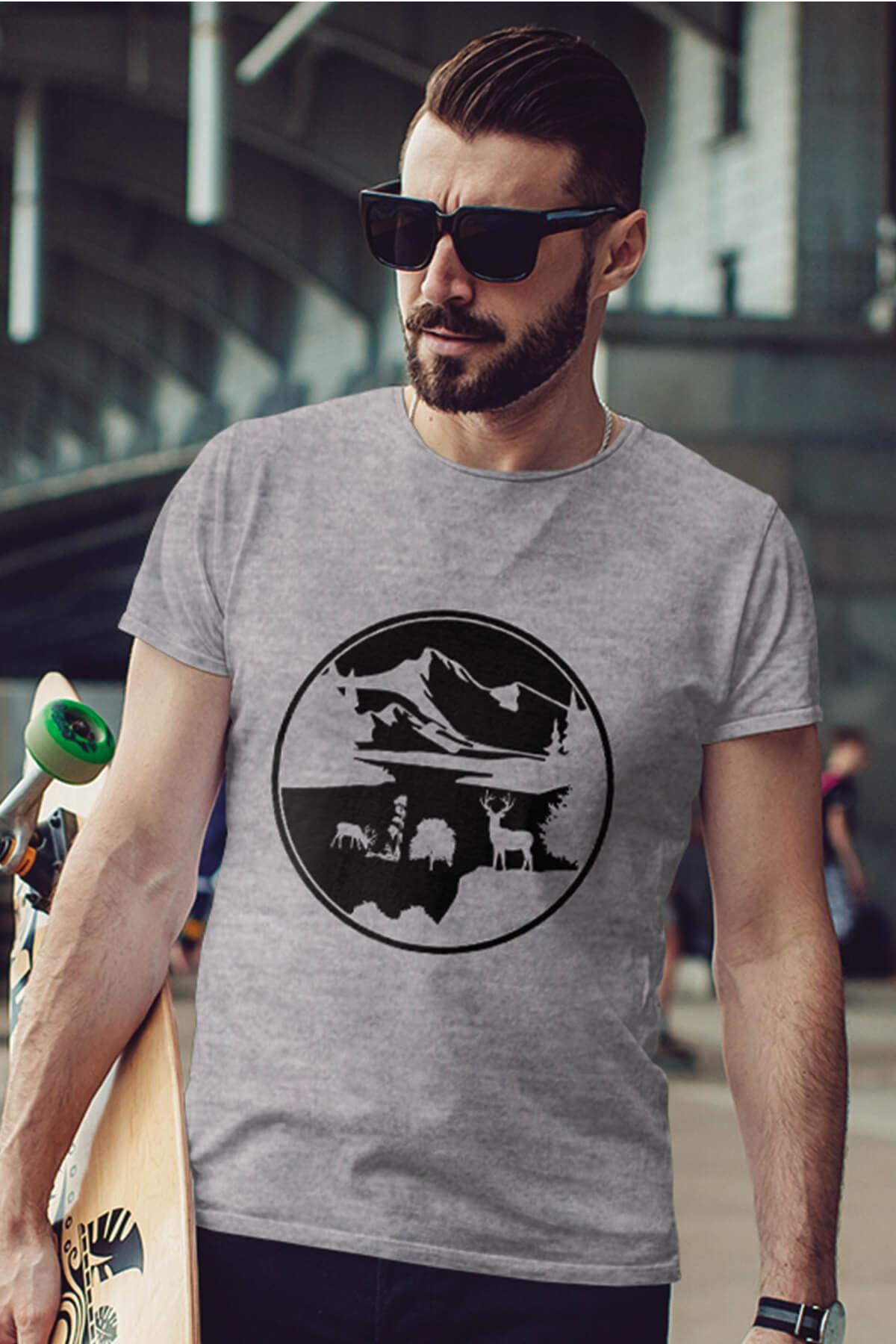 View Gri Outdoor Erkek Tshirt - Tişört