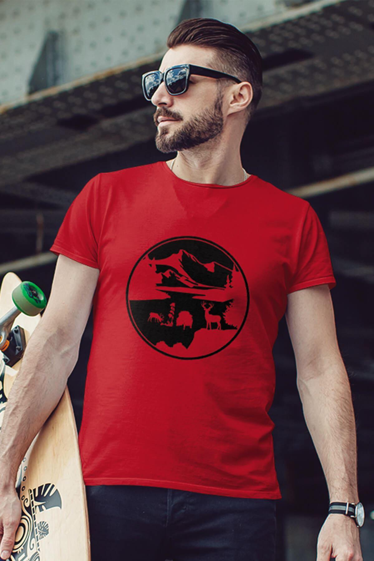 View Kırmızı Outdoor Erkek Tshirt - Tişört