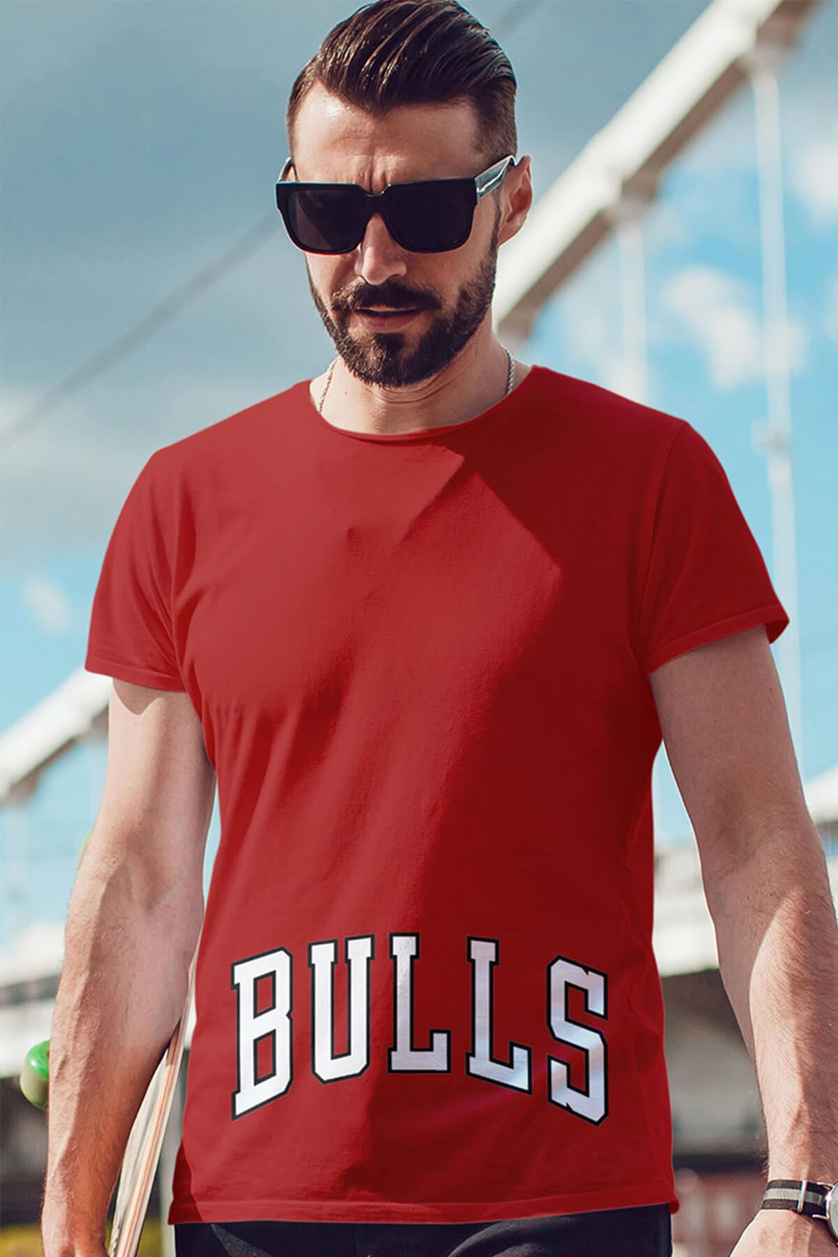 Air Jordan 37 Kırmızı NBA Erkek Tshirt - Tişört