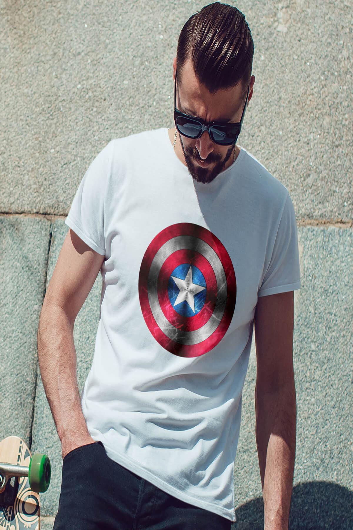 CPT America Beyaz Erkek Tshirt - Tişört