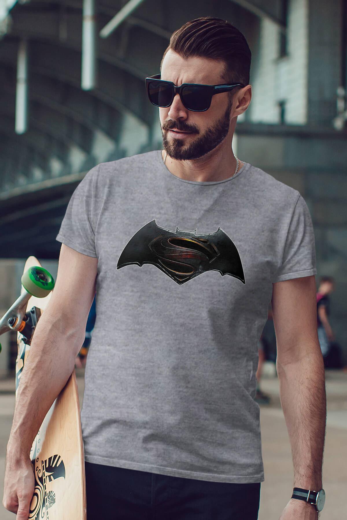 Batman Gri Erkek Tshirt - Tişört