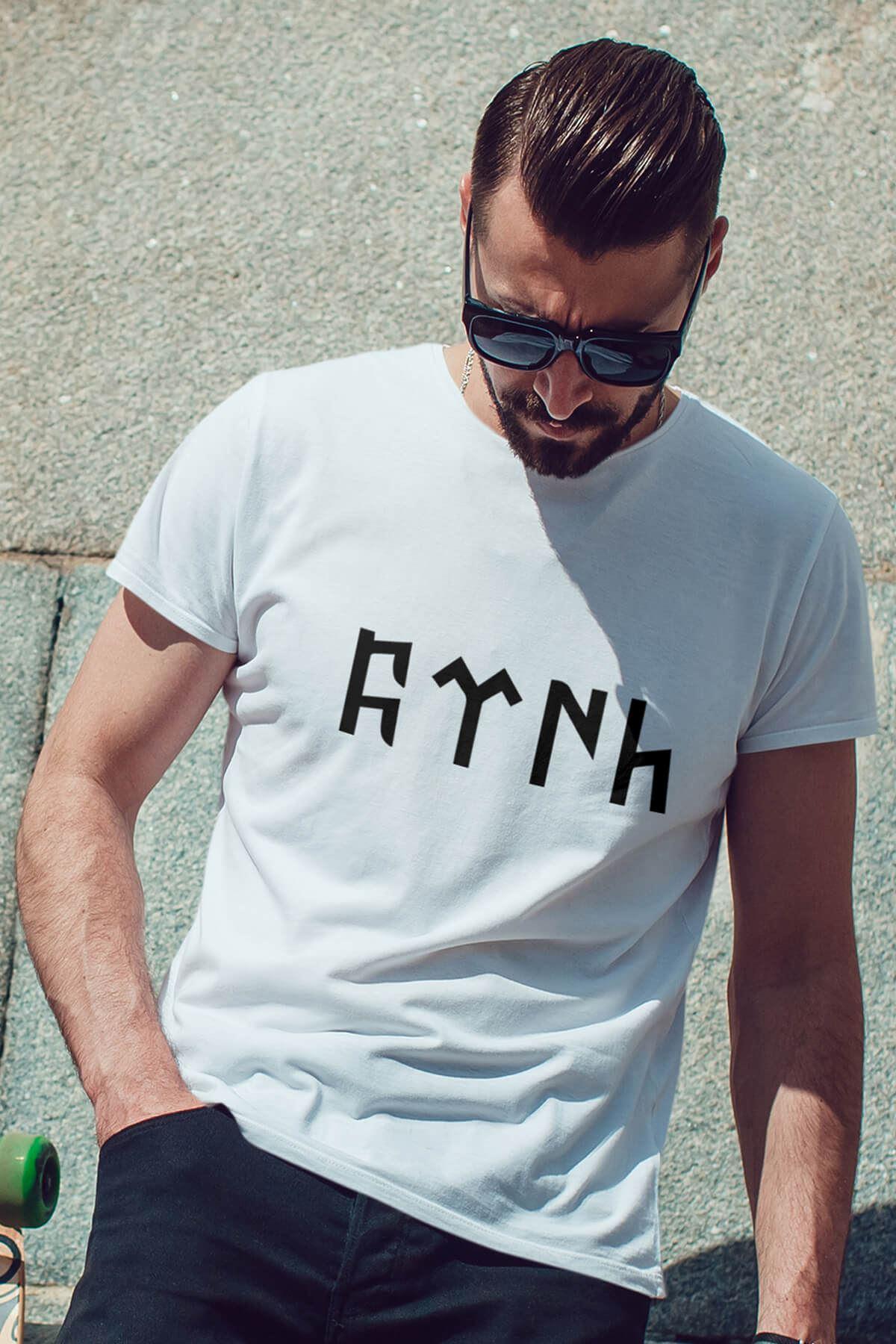 Türk Beyaz Erkek Tshirt - Tişört