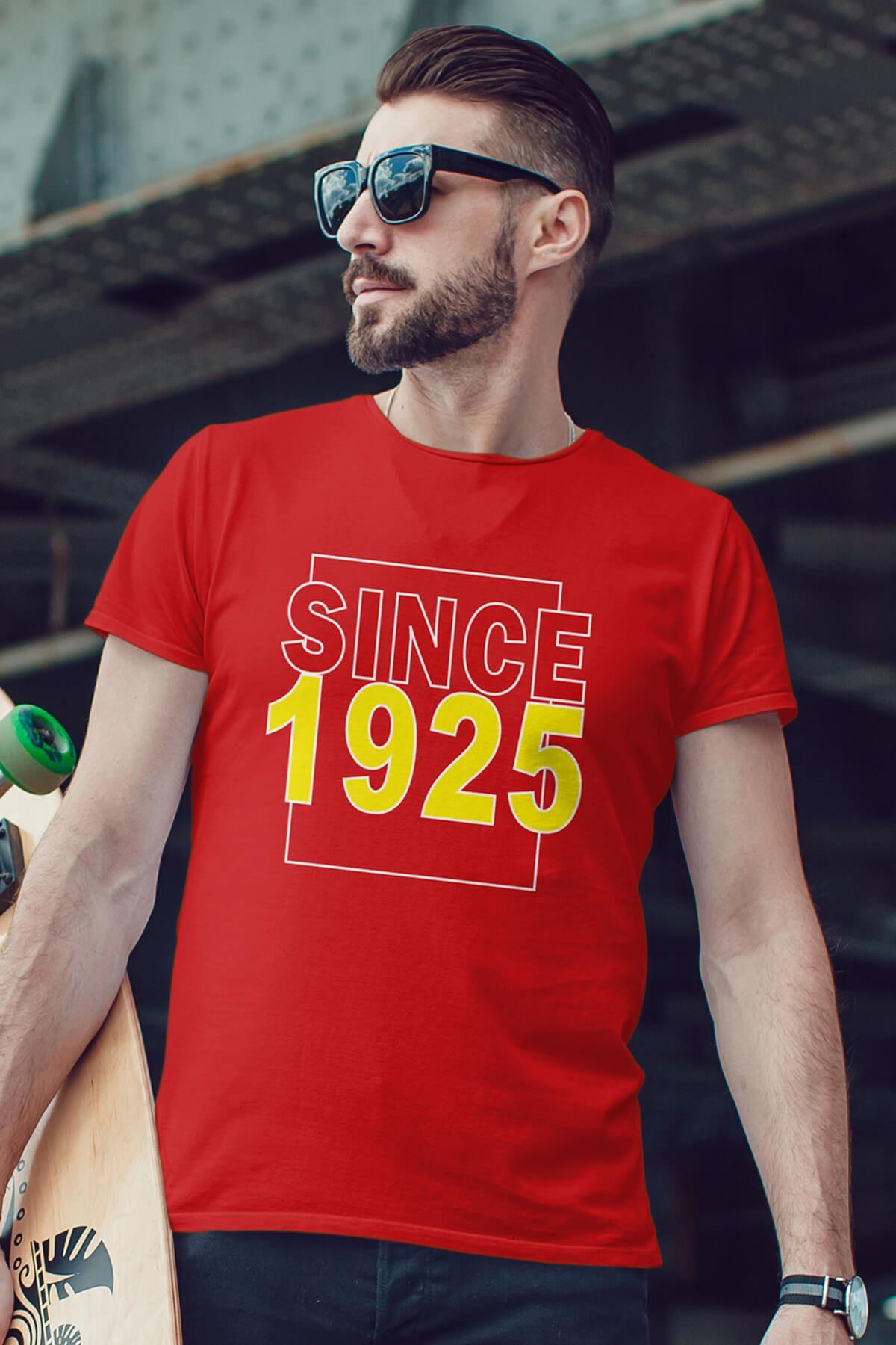 Since 1925 Kırmızı Erkek Tshirt - Tişört