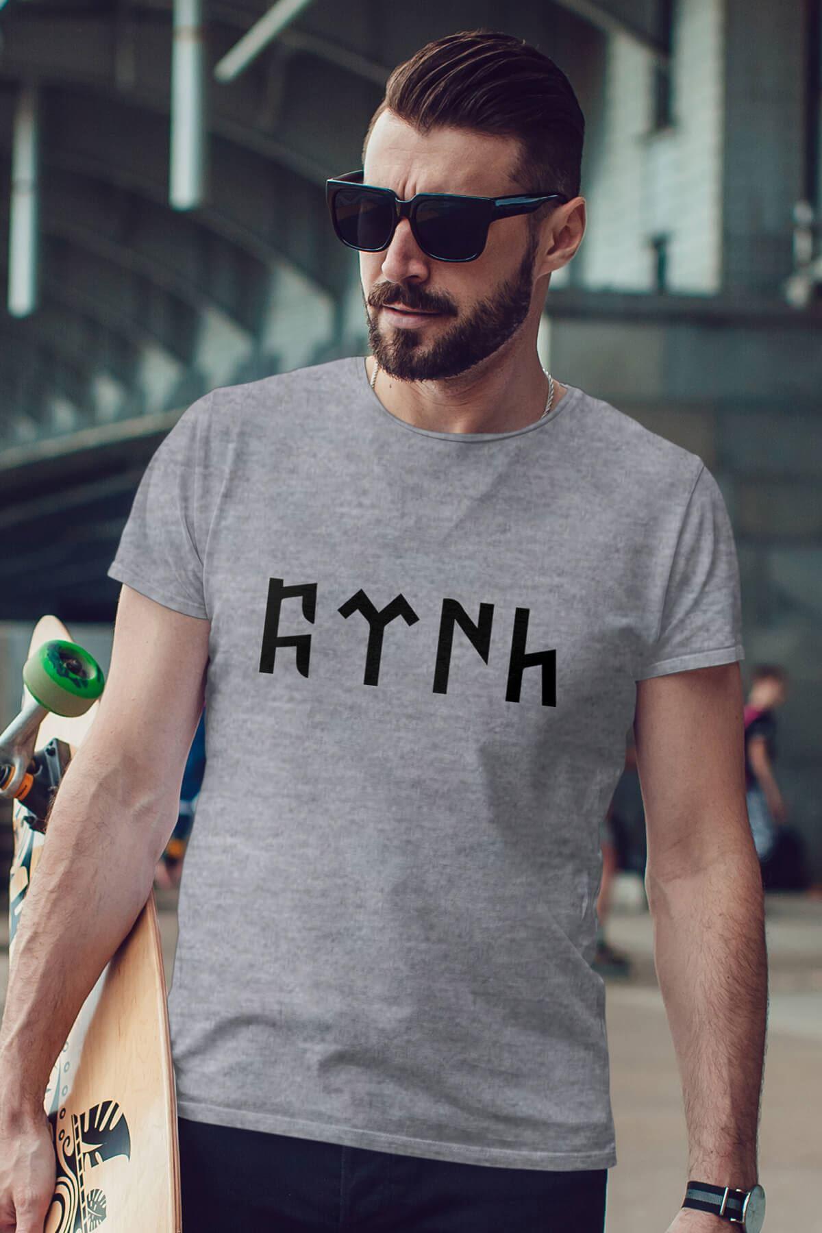 Türk Gri Erkek Tshirt - Tişört