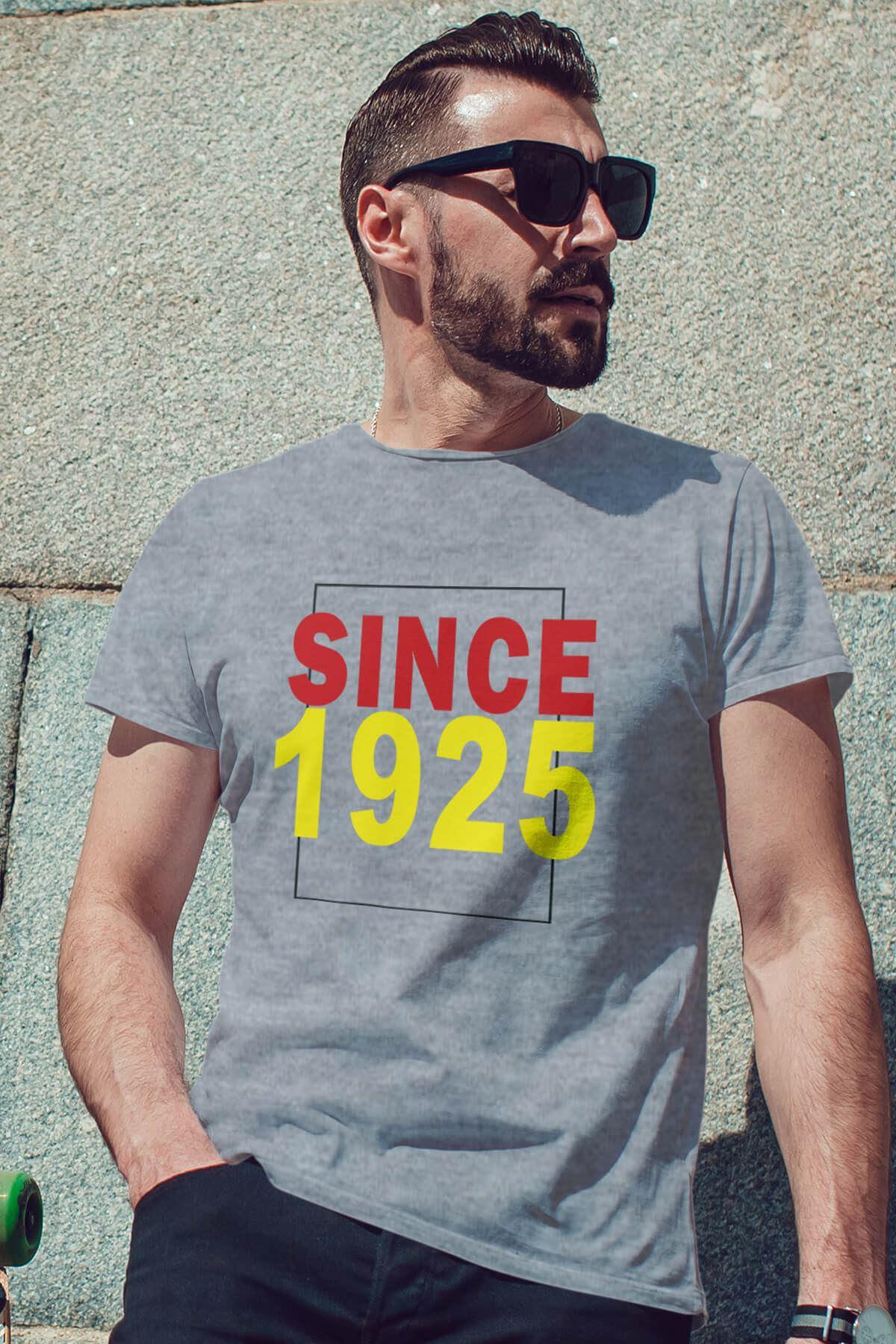 Since 1925 Gri Erkek Tshirt - Tişört