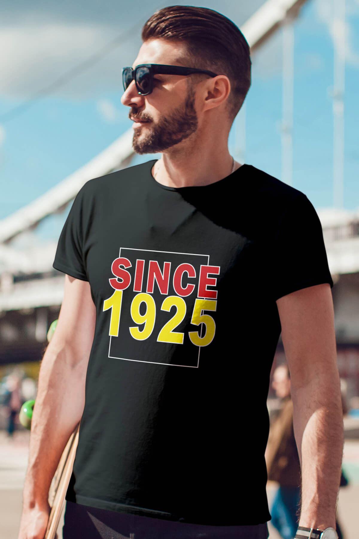 Since 1925 Siyah Erkek Tshirt - Tişört
