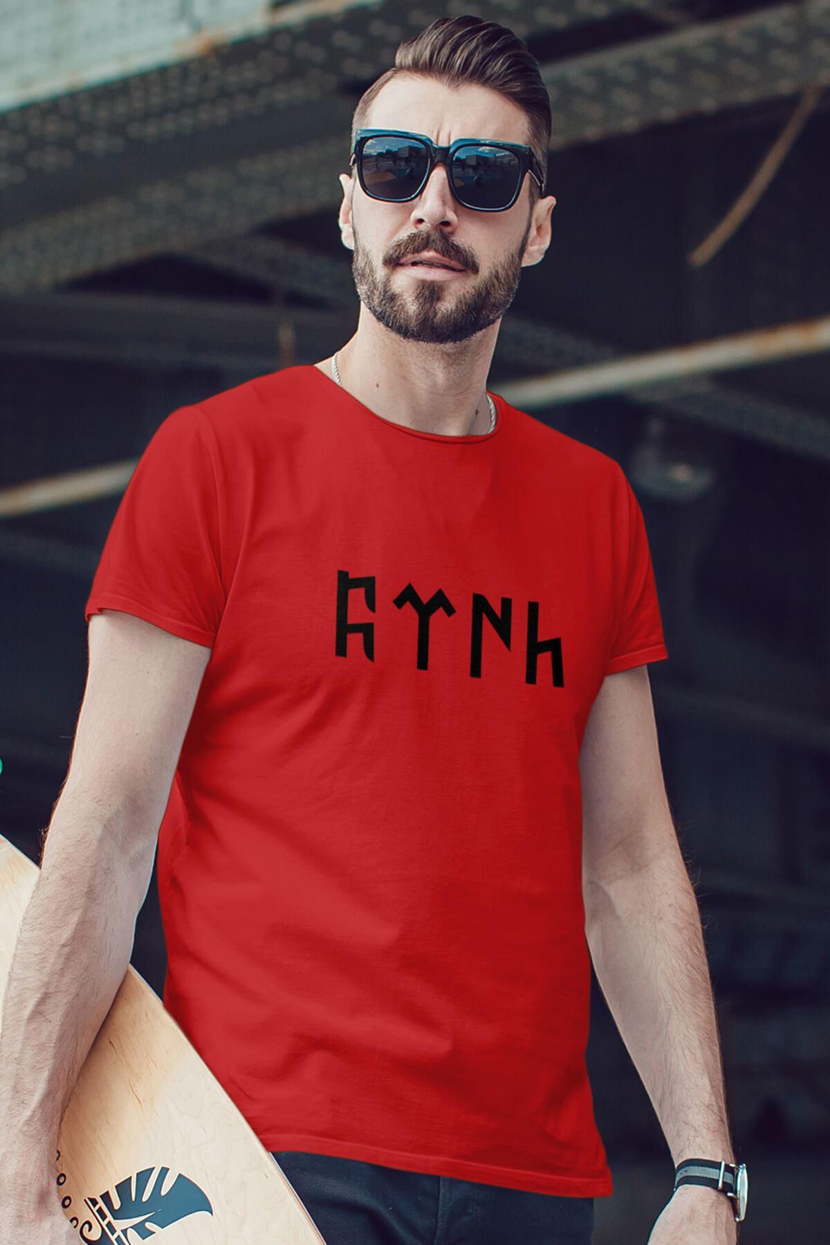 Türk Kırmızı Erkek Tshirt - Tişört