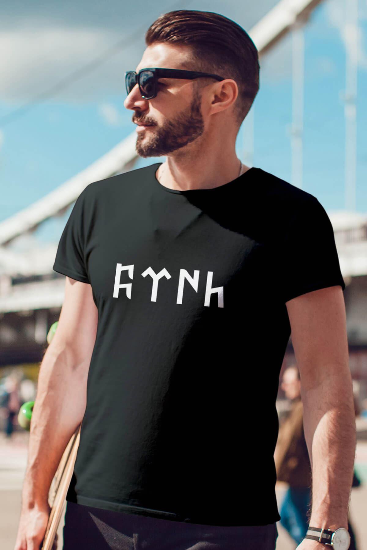 Türk Siyah Erkek Tshirt - Tişört