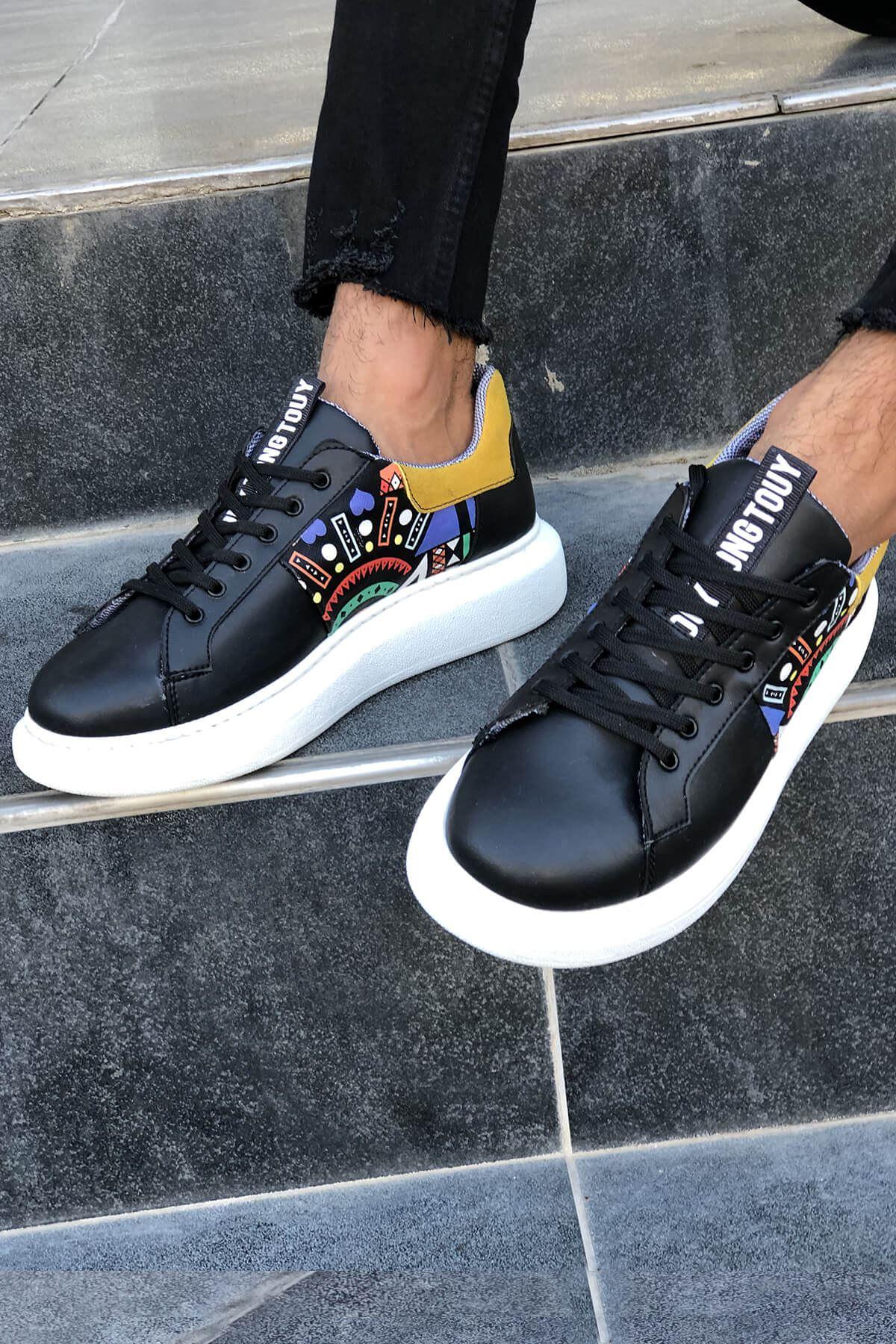CHM200 Siyah Erkek Spor Ayakkabı