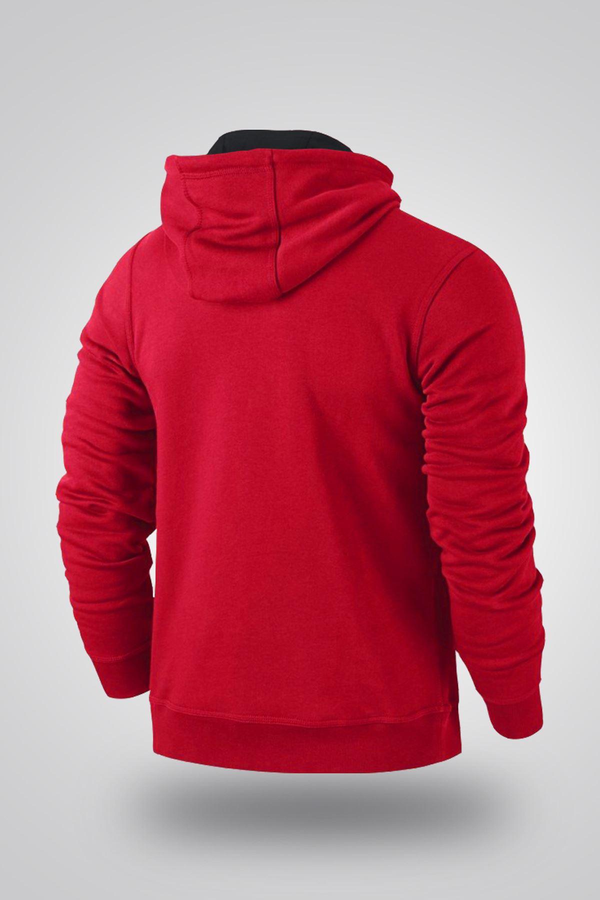 Air Jordan 06 Kırmızı NBA Erkek Kapşonlu Sweatshirt - Hoodie