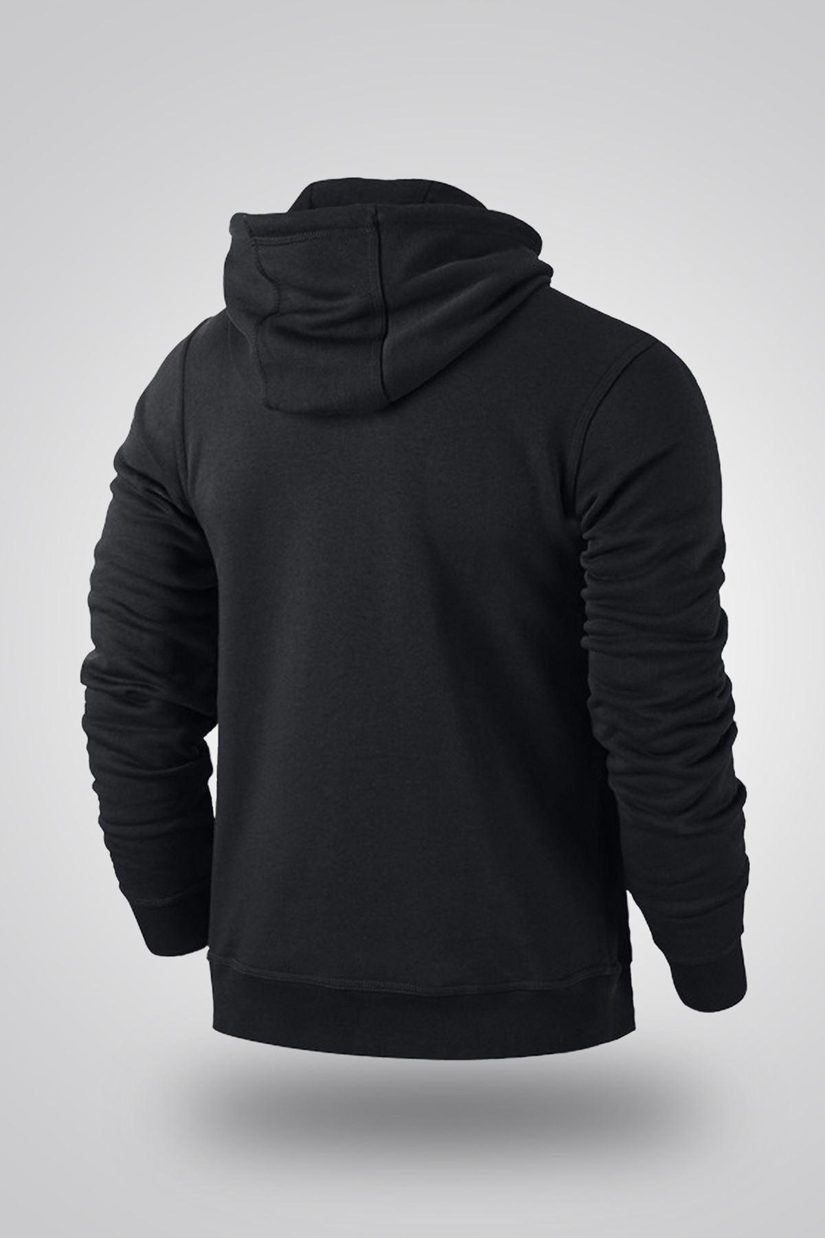 Air Jordan 06 Siyah NBA Erkek Kapşonlu Sweatshirt - Hoodie