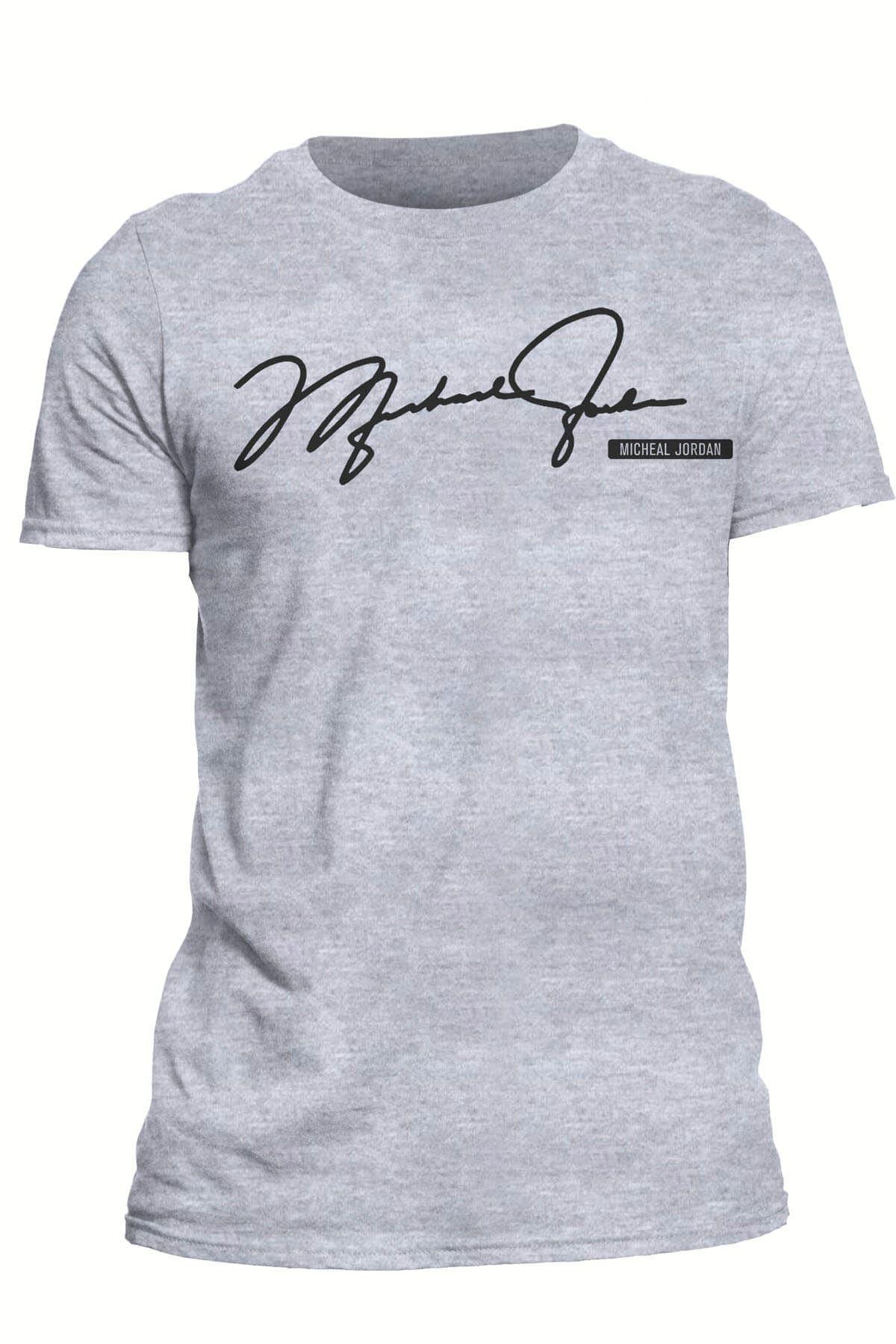 Air Jordan 01 Gri NBA Kadın Tshirt - Tişört