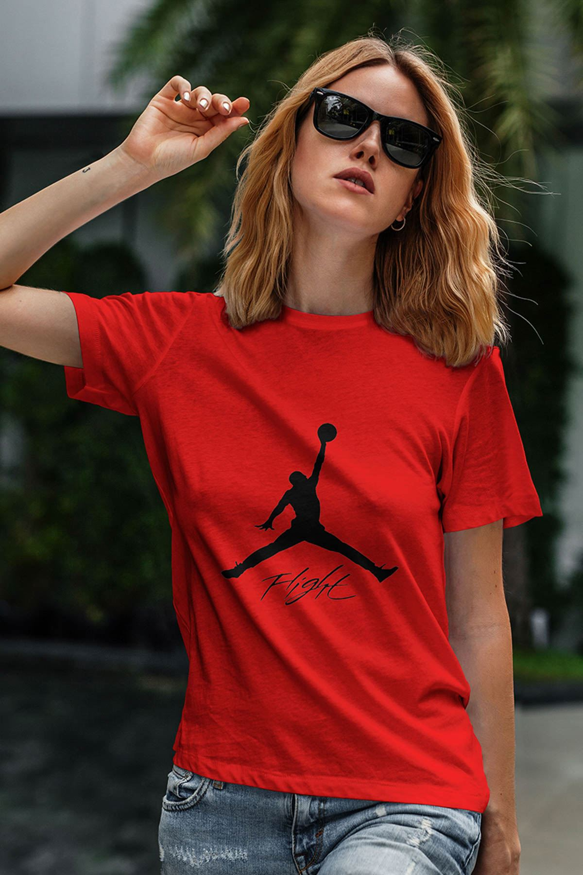 Air Jordan 06 Kırmızı NBA Kadın Tshirt - Tişört