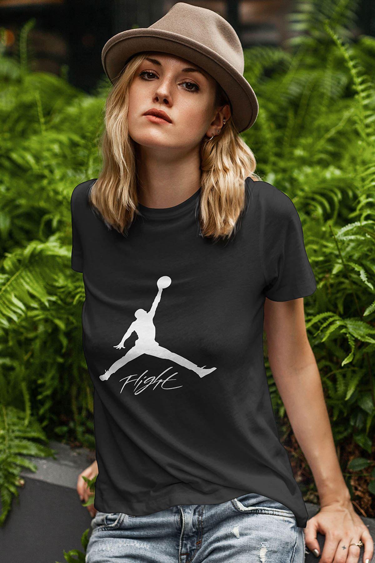 Air Jordan 06 Siyah NBA Kadın Tshirt - Tişört