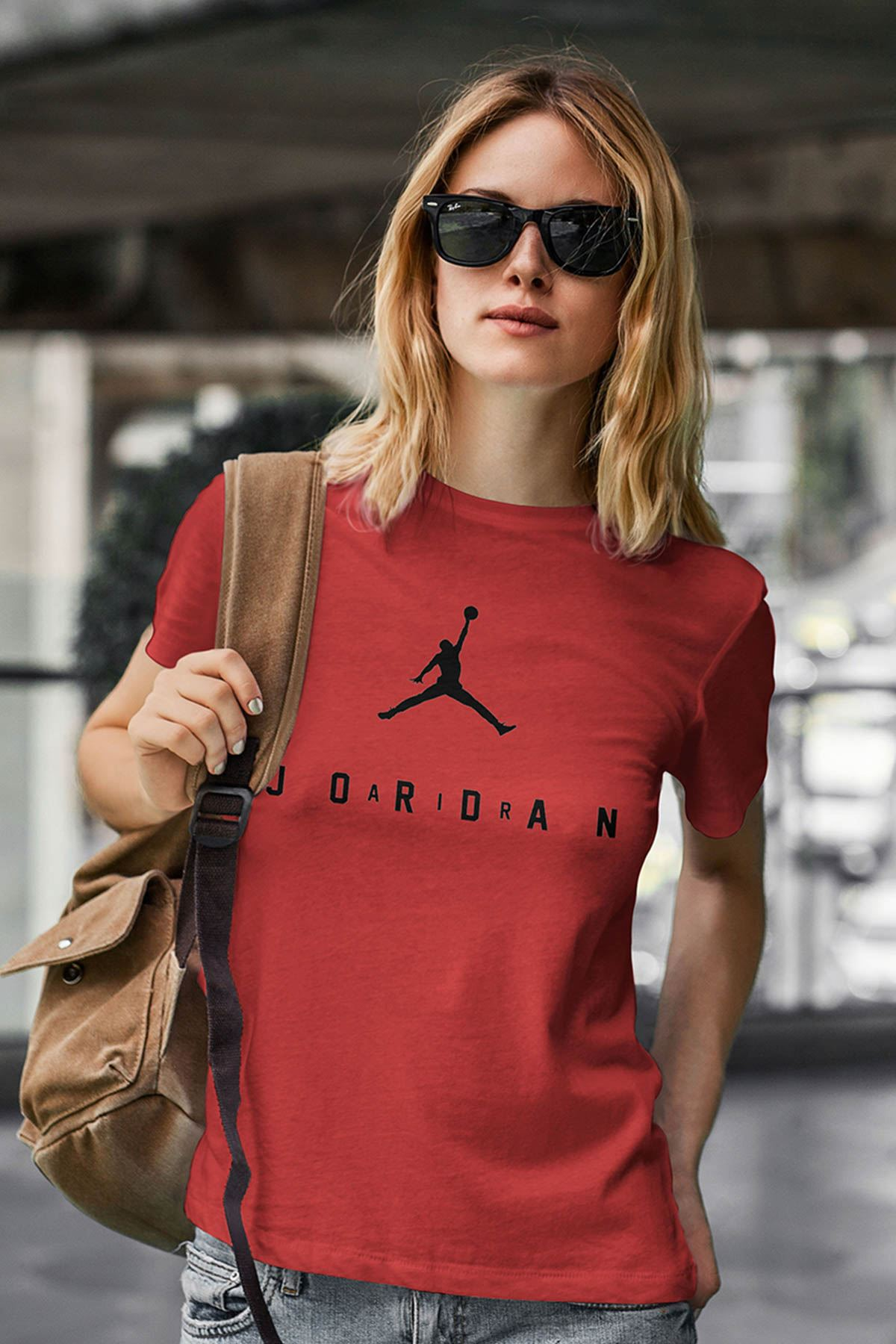 Air Jordan 10 Kırmızı NBA Kadın Tshirt - Tişört
