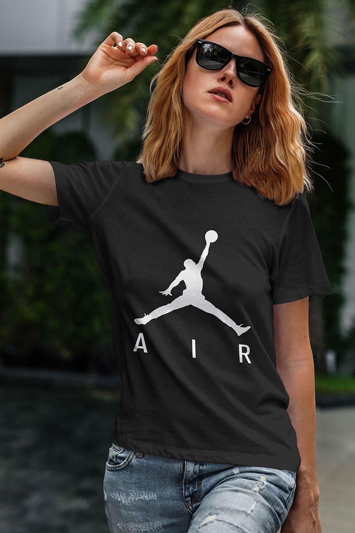 Air Jordan 03 Siyah NBA Kadın Tshirt - Tişört