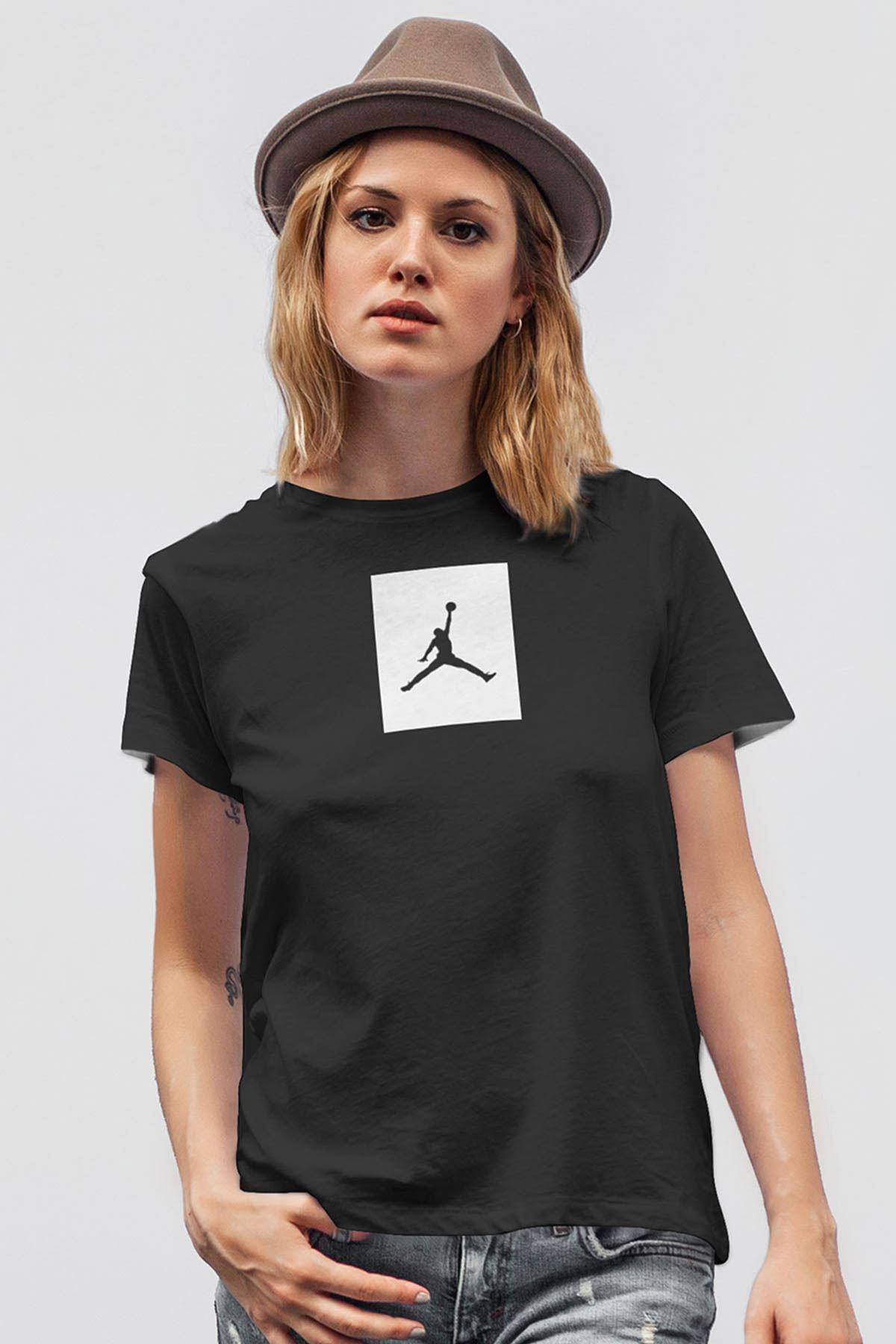 Air Jordan 09 Siyah NBA Kadın Tshirt - Tişört