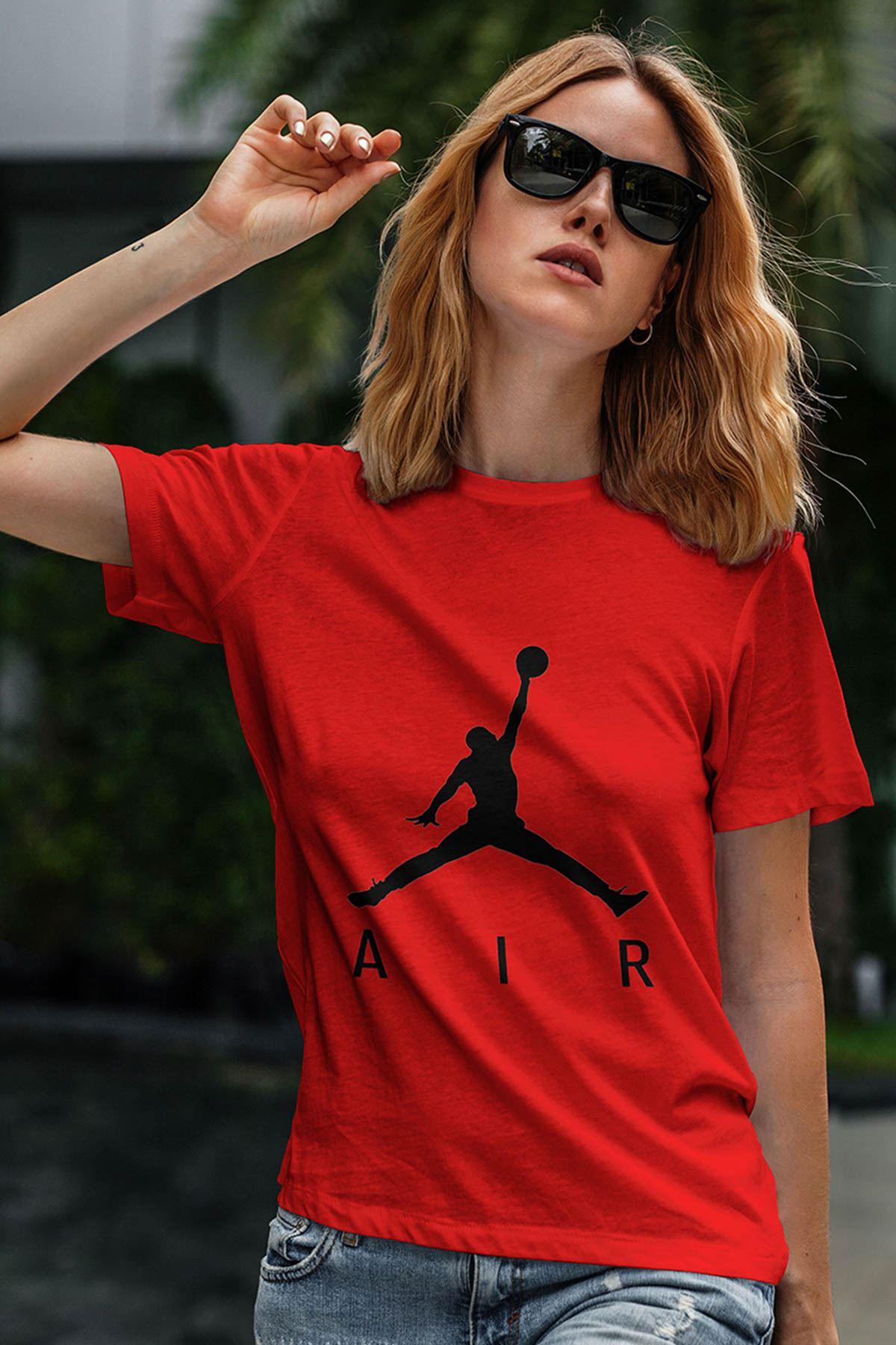 Air Jordan 03 Kırmızı NBA Kadın Tshirt - Tişört