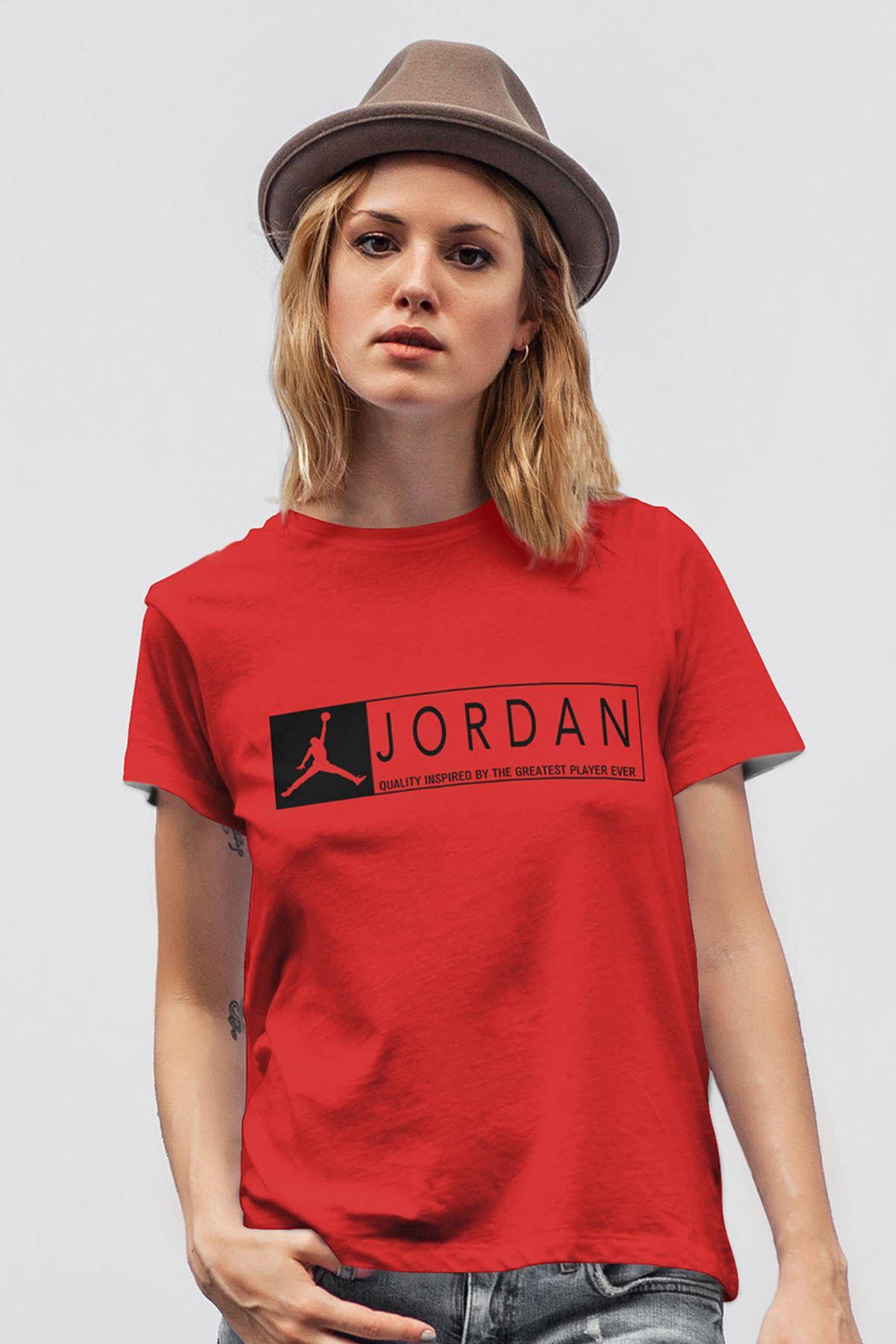 Air Jordan 13 Kırmızı NBA Kadın Tshirt - Tişört