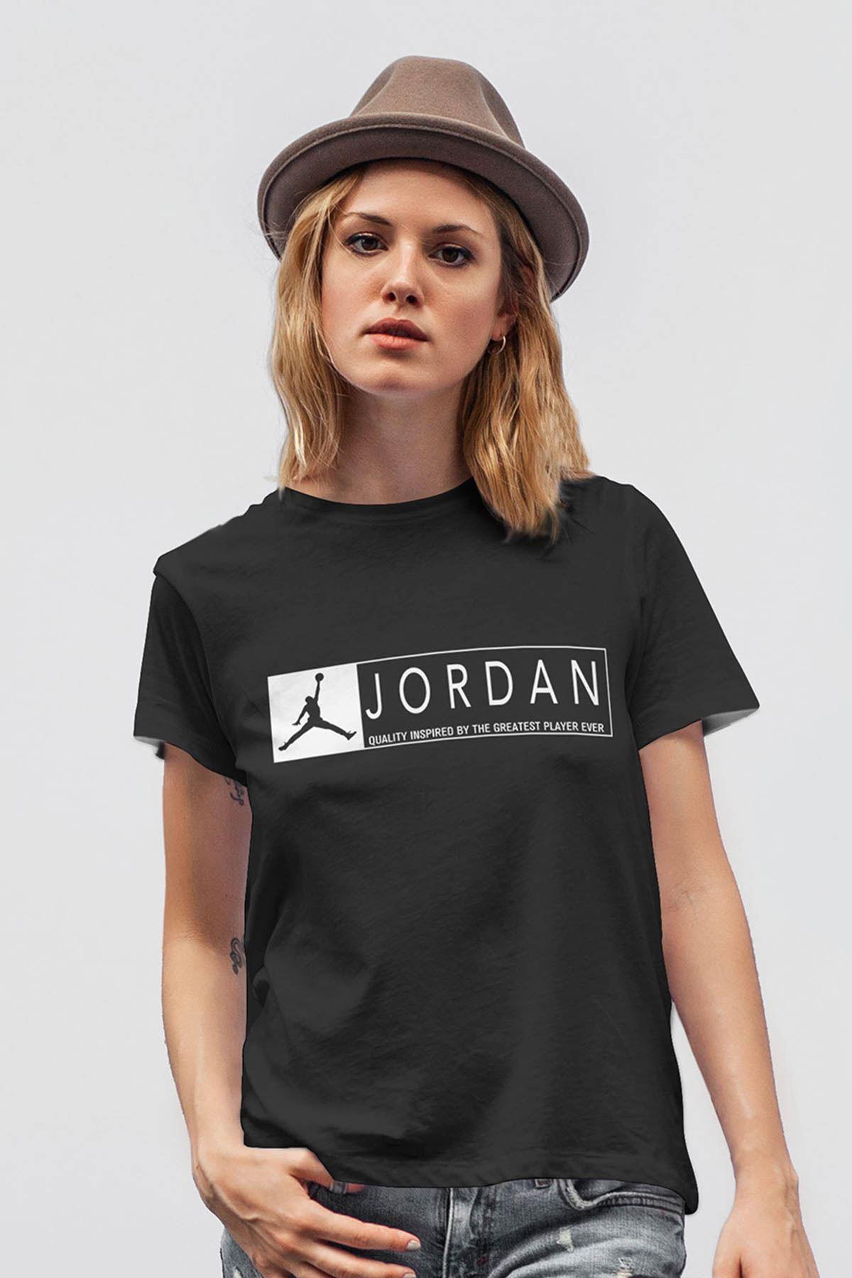 Air Jordan 13 Siyah NBA Kadın Tshirt - Tişört
