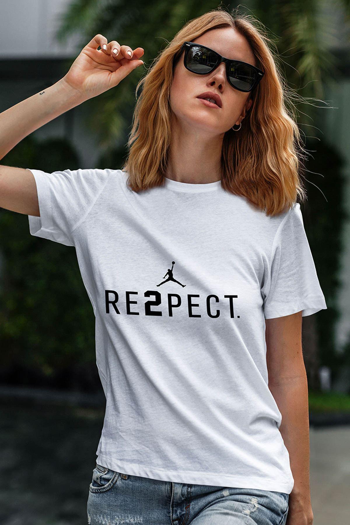 Air Jordan 14 Beyaz NBA Kadın Tshirt - Tişört