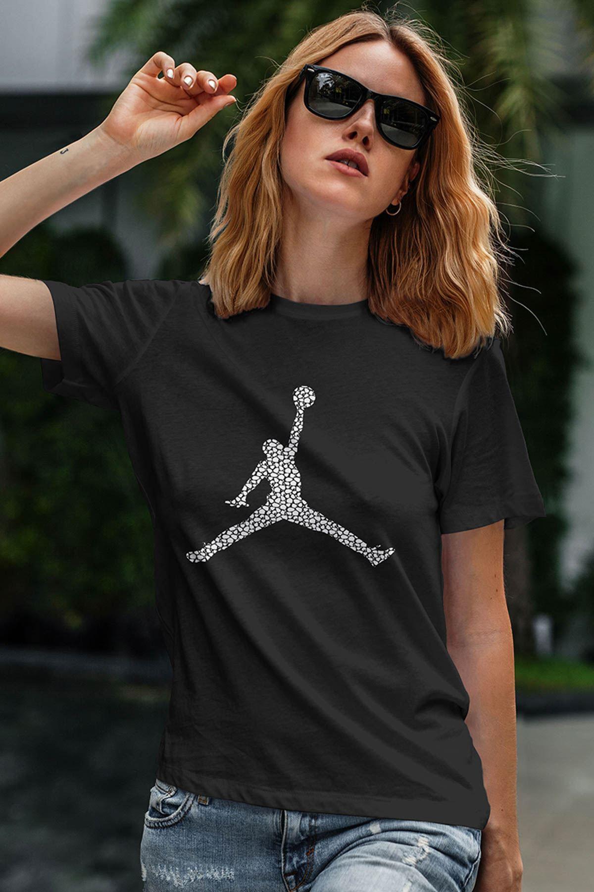 Air Jordan 16 Siyah NBA Kadın Tshirt - Tişört