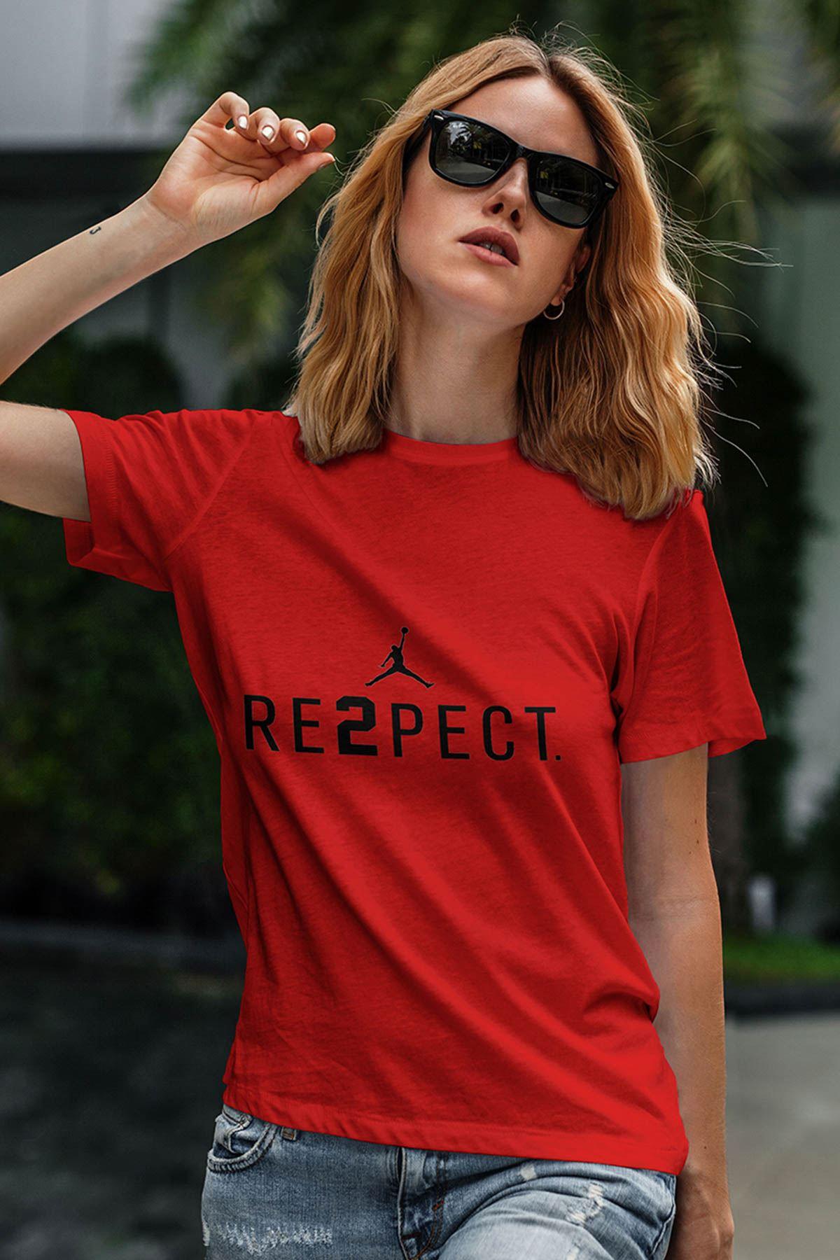 Air Jordan 14 Kırmızı NBA Kadın Tshirt - Tişört