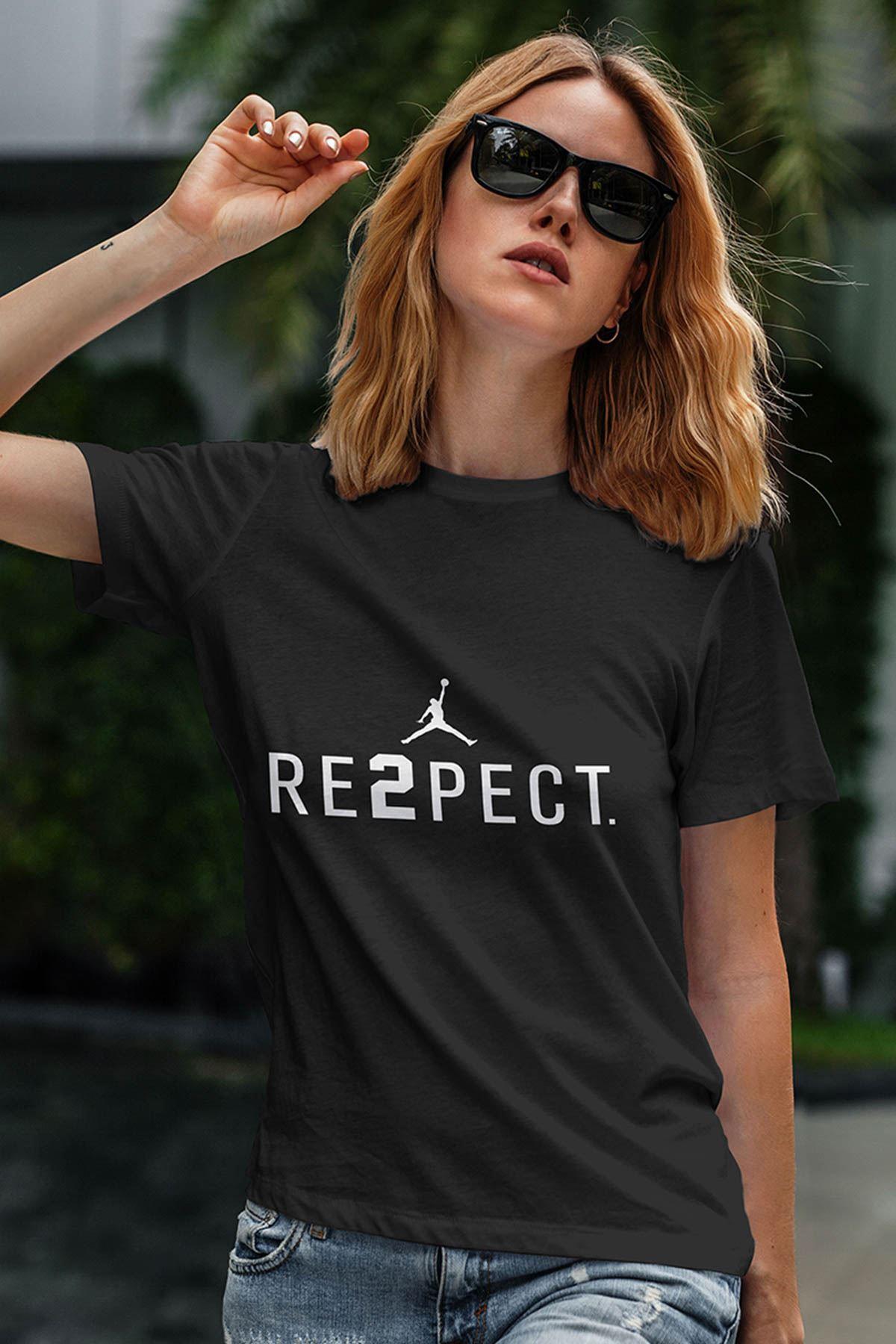 Air Jordan 14 Siyah NBA Kadın Tshirt - Tişört