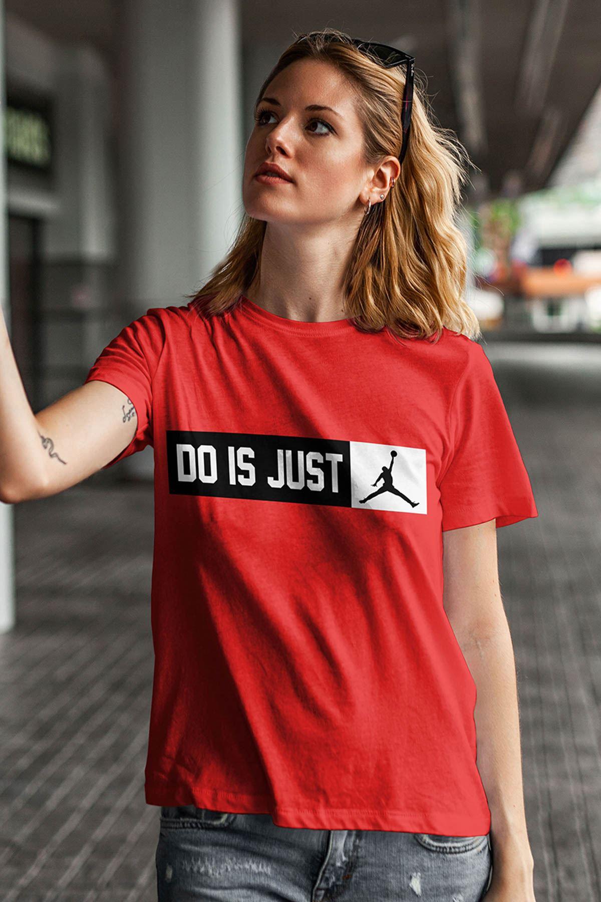 Air Jordan 18 Kırmızı NBA Kadın Tshirt - Tişört