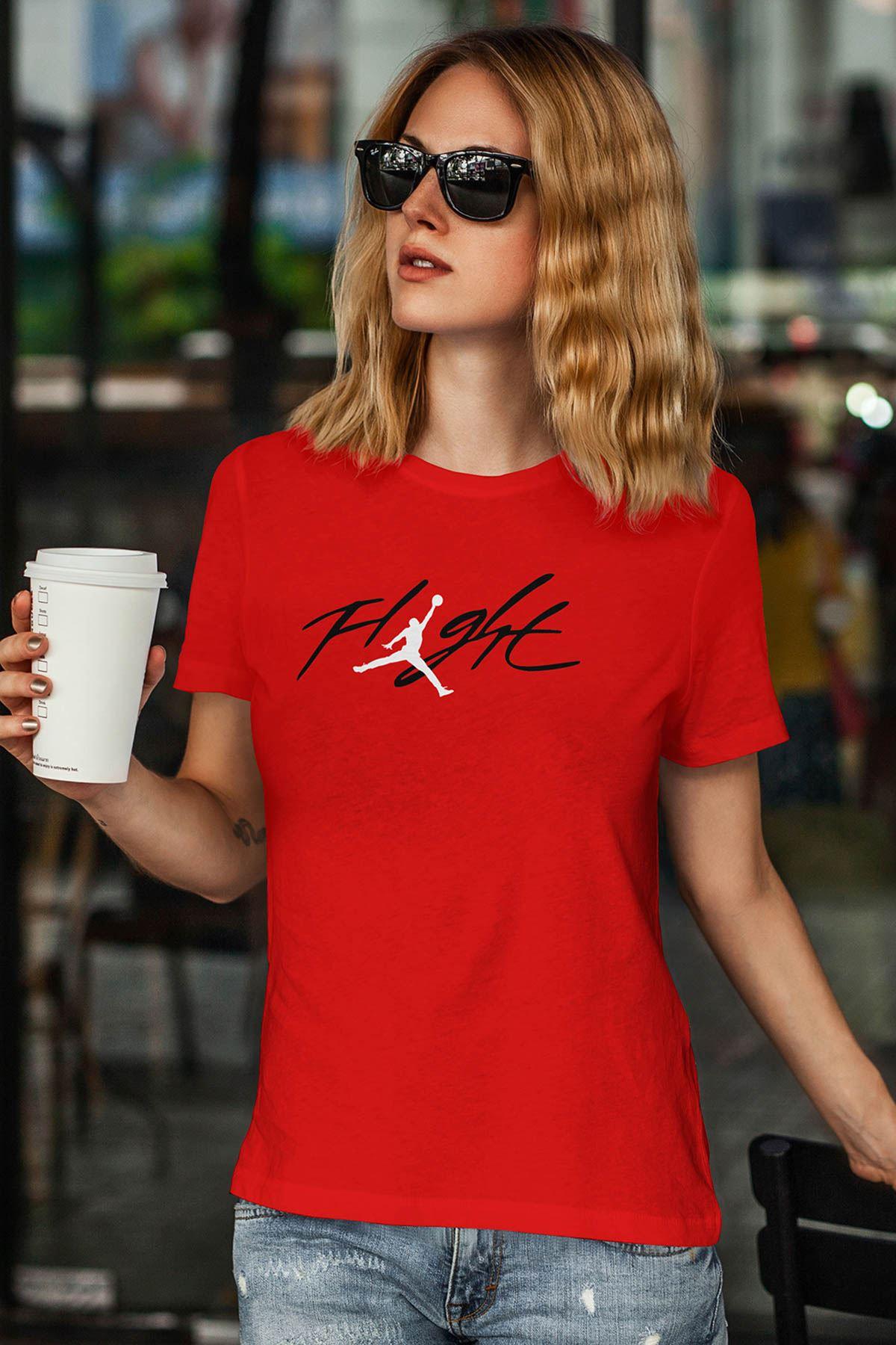 Air Jordan 33 Kırmızı NBA Kadın Tshirt - Tişört