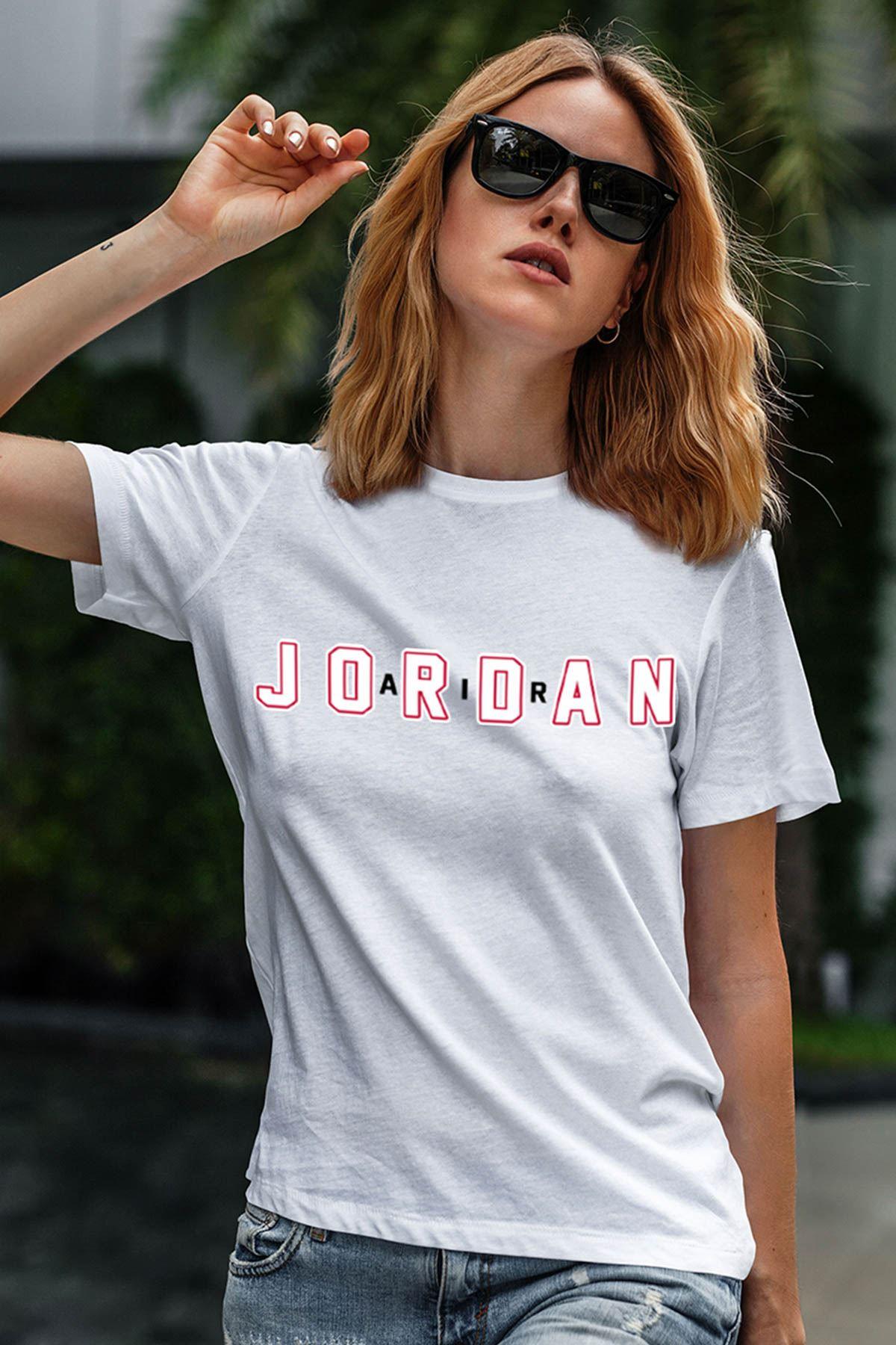 Air Jordan 34 Beyaz NBA Kadın Tshirt - Tişört