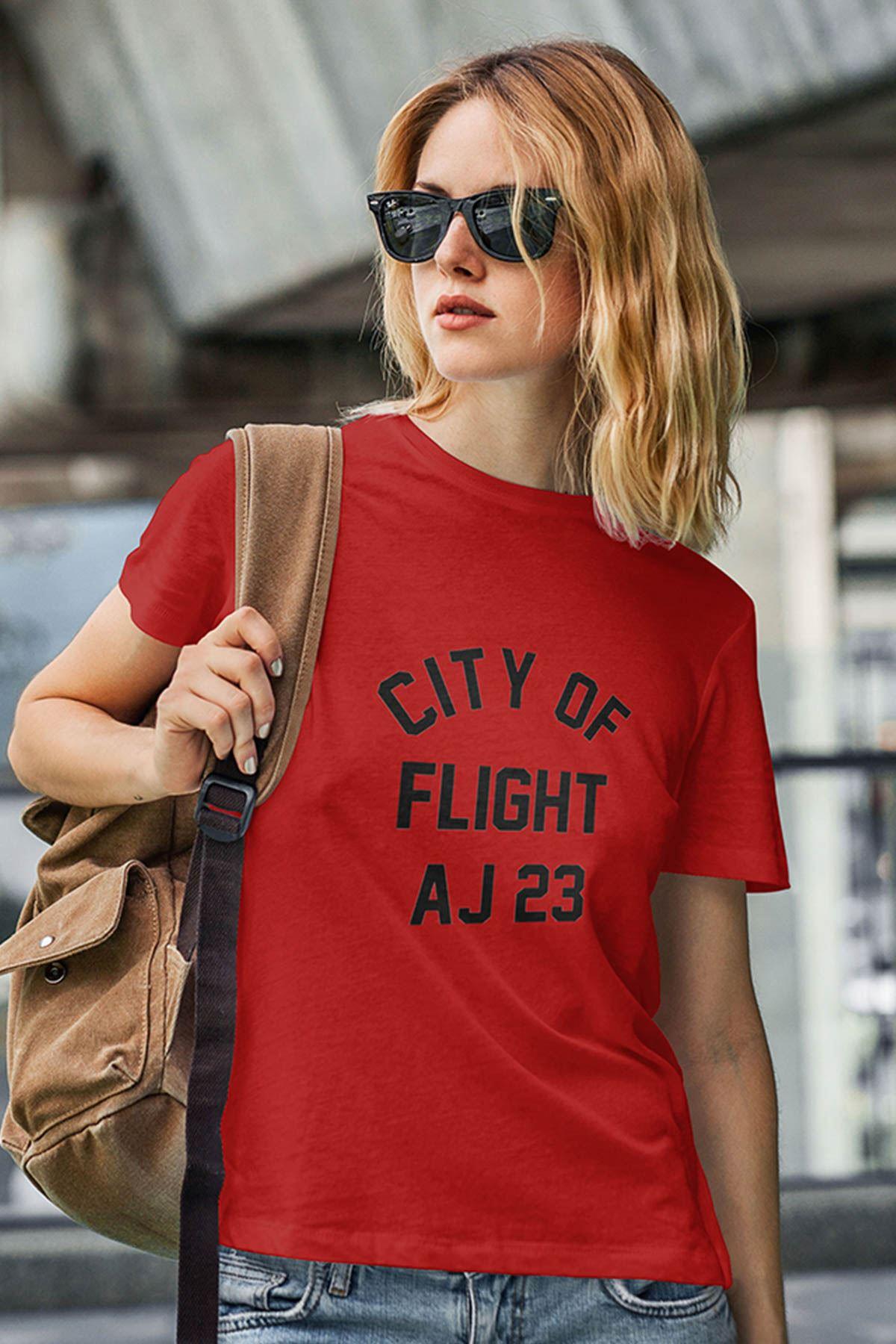 Air Jordan 38 Kırmızı NBA Kadın Tshirt - Tişört
