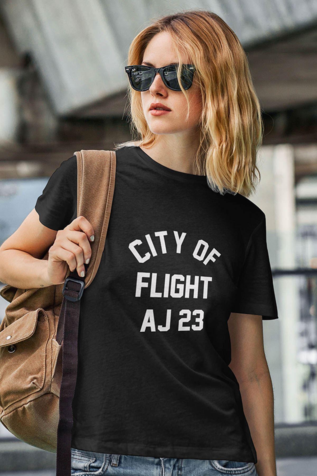 Air Jordan 38 Siyah NBA Kadın Tshirt - Tişört