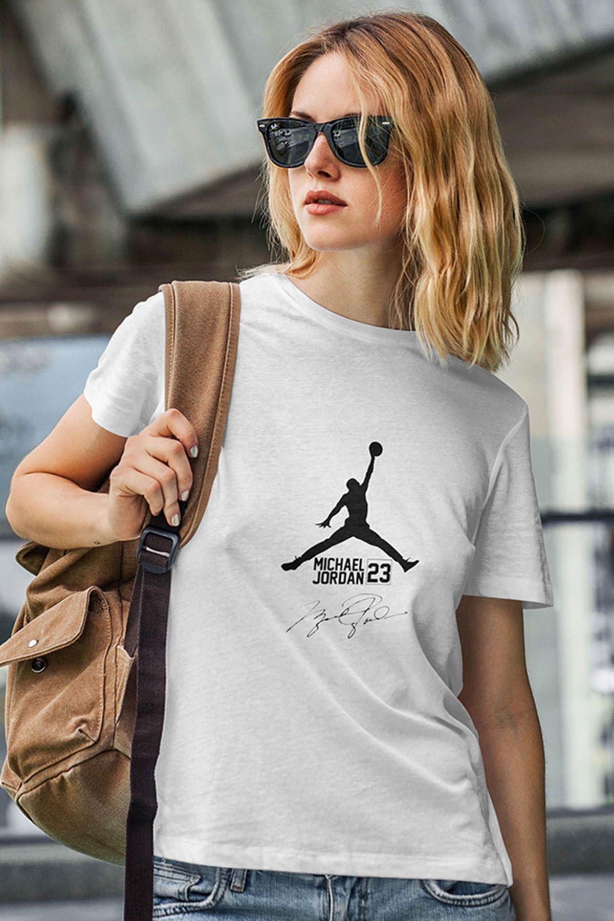 Air Jordan 39 Beyaz NBA Kadın Tshirt - Tişört
