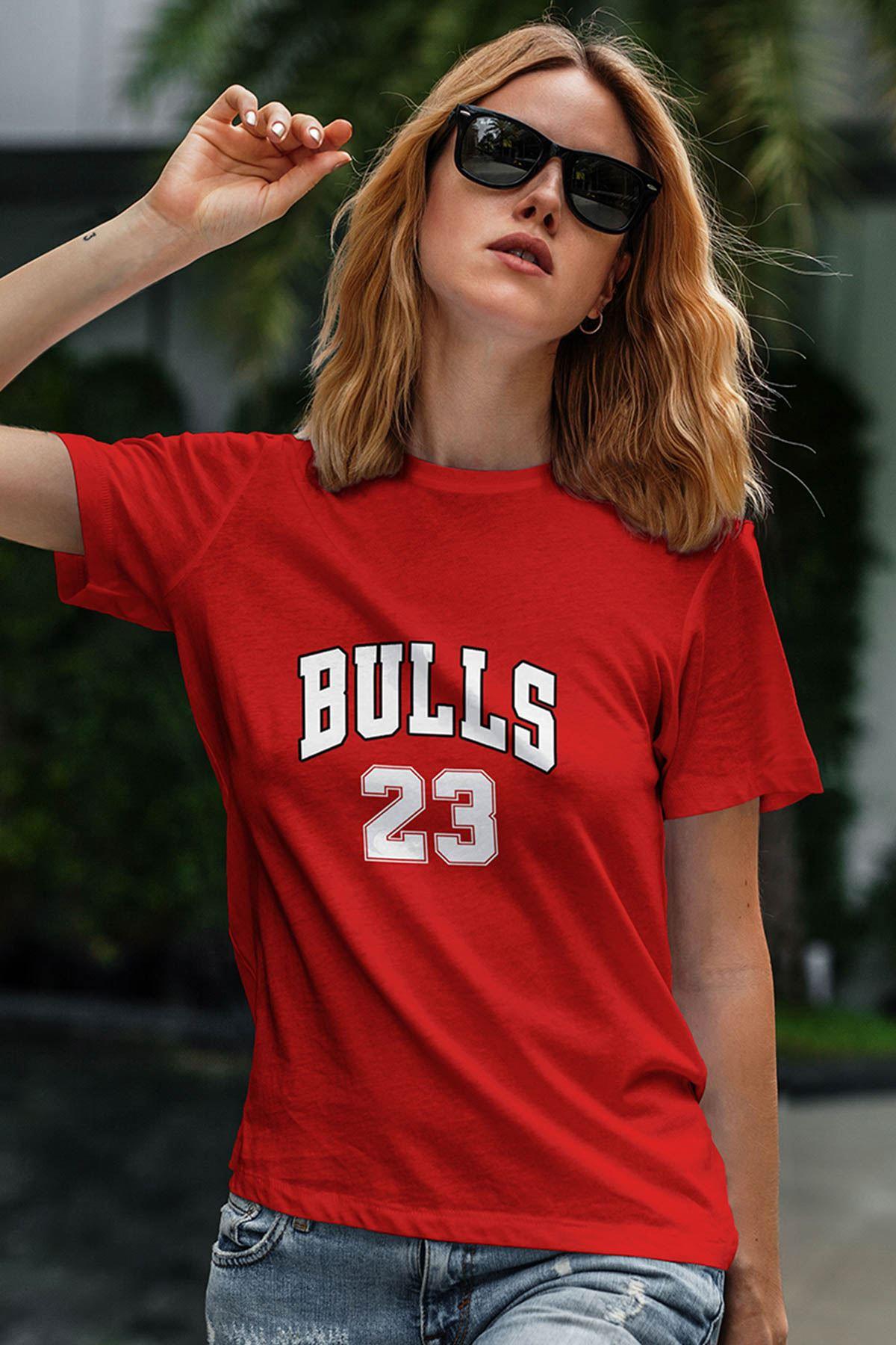 Air Jordan 25 Kırmızı NBA Kadın Tshirt - Tişört