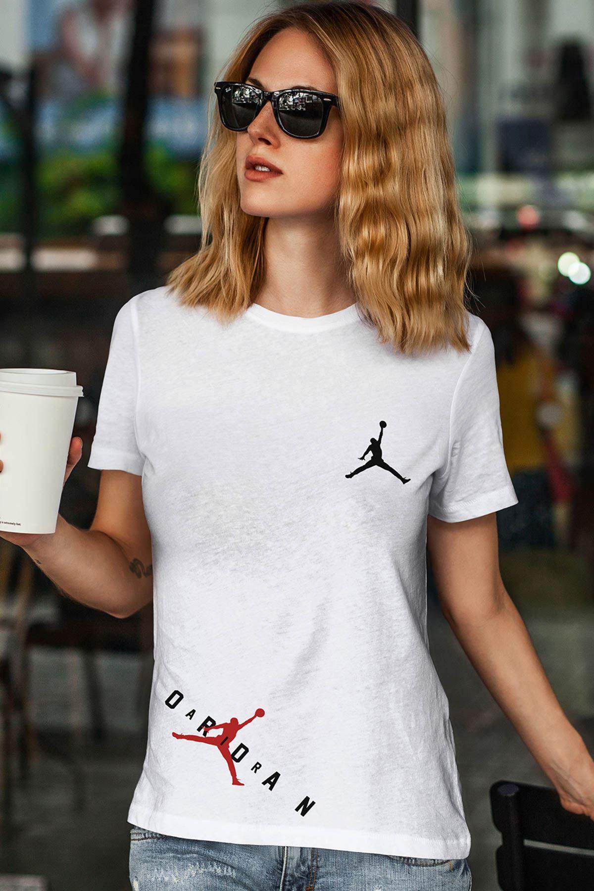 Air Jordan 23 Beyaz NBA Kadın Tshirt - Tişört