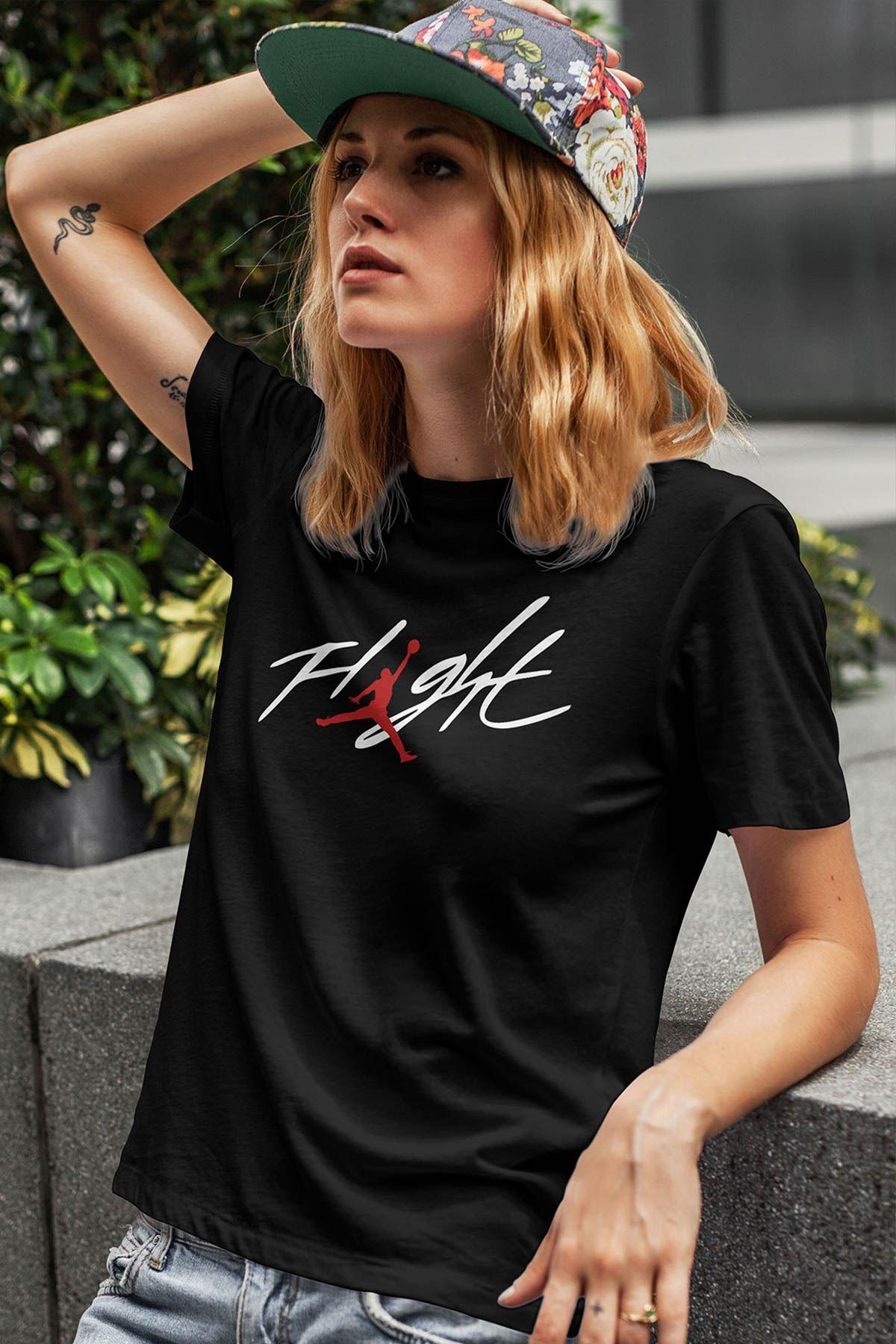 Air Jordan 33 Siyah NBA Kadın Tshirt - Tişört