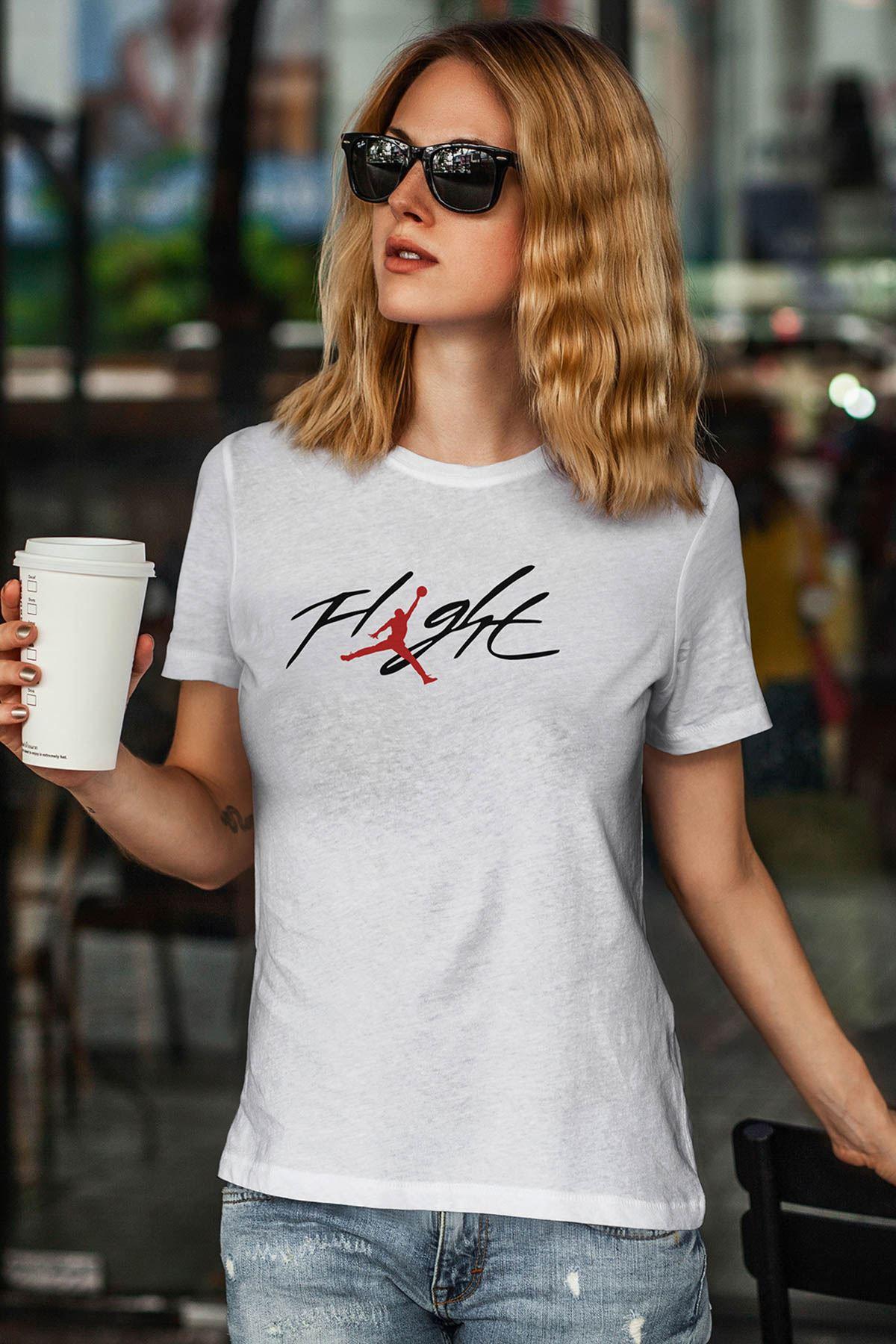 Air Jordan 33 Beyaz NBA Kadın Tshirt - Tişört