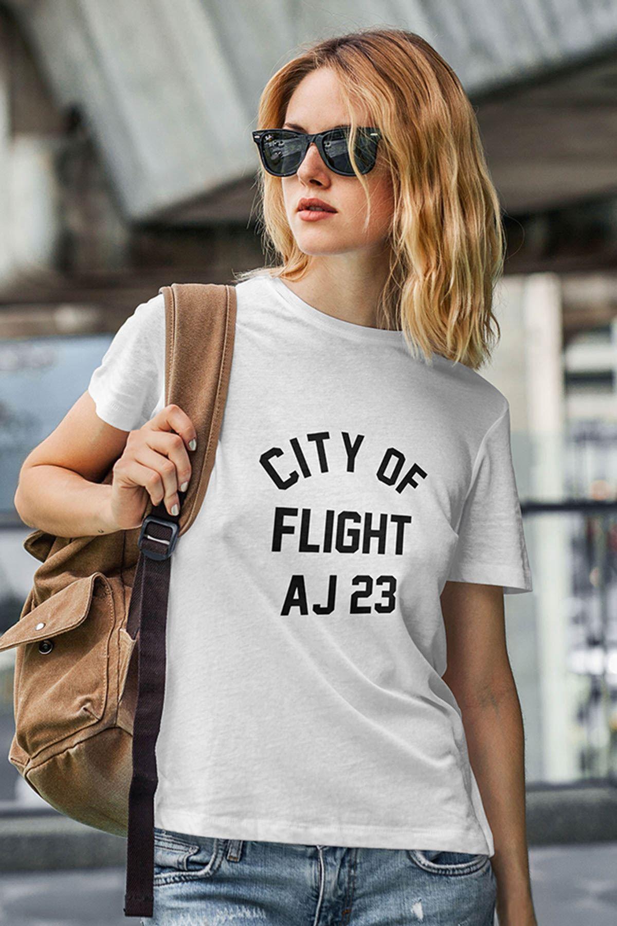 Air Jordan 38 Beyaz NBA Kadın Tshirt - Tişört