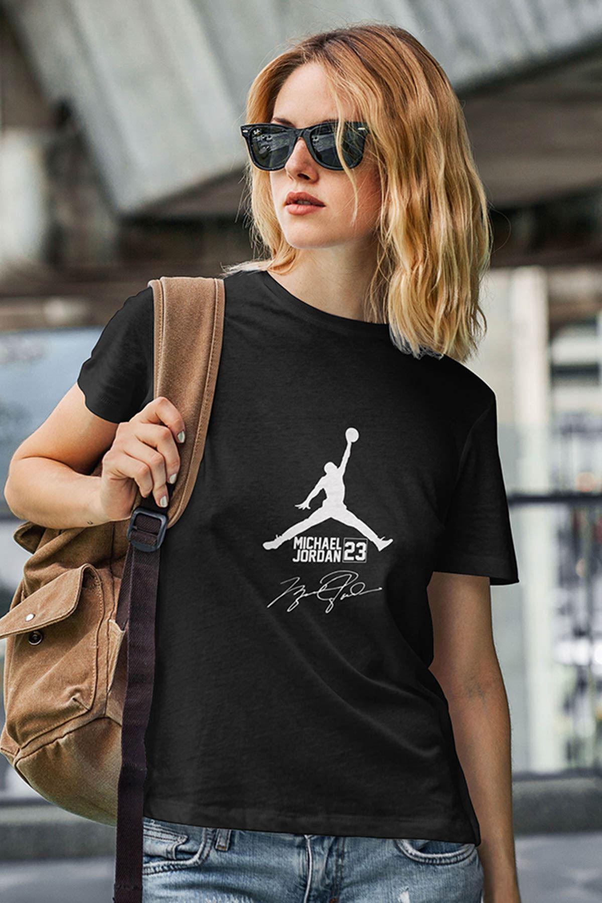 Air Jordan 39 Siyah NBA Kadın Tshirt - Tişört