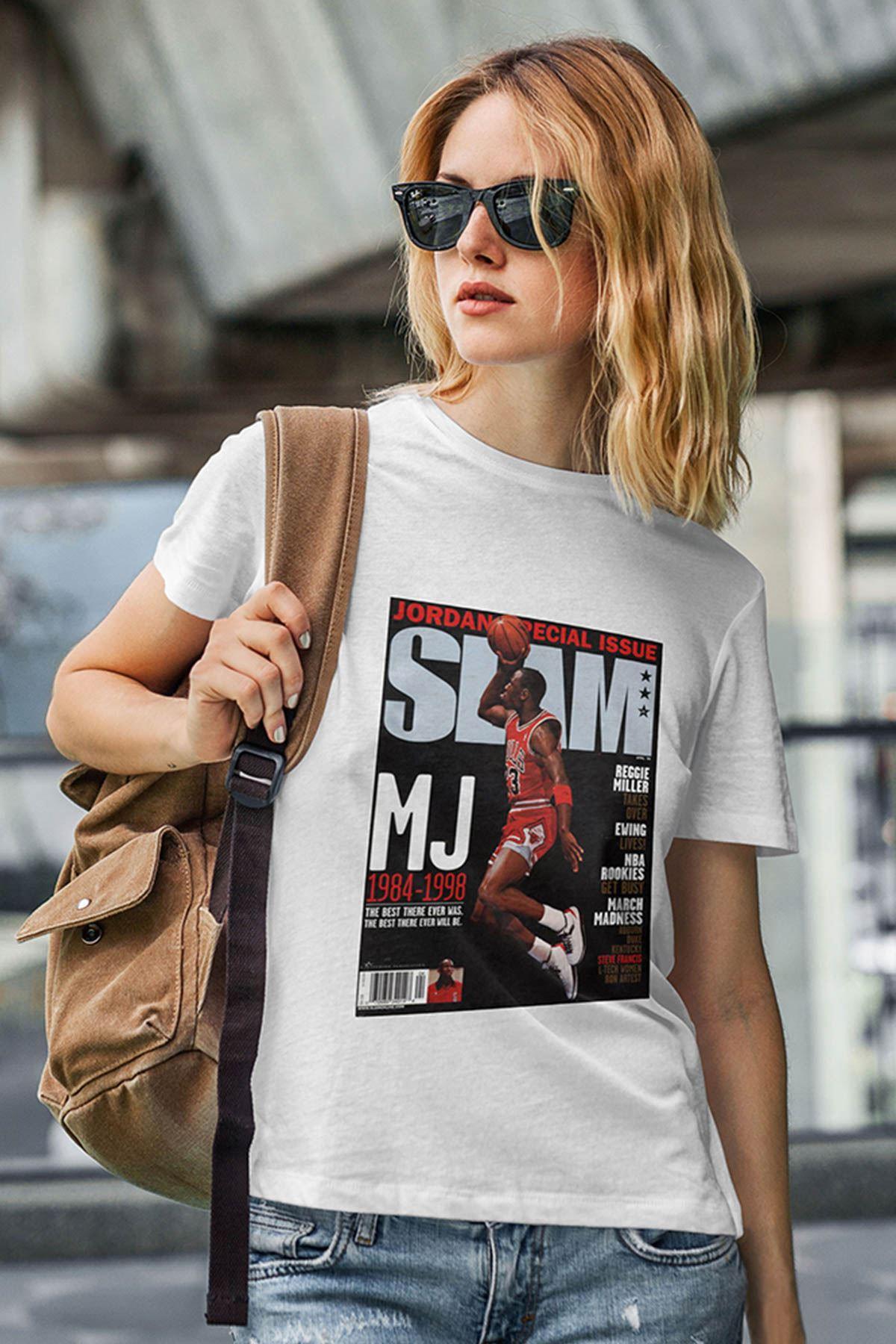 Air Jordan 41 Beyaz NBA Kadın Tshirt - Tişört