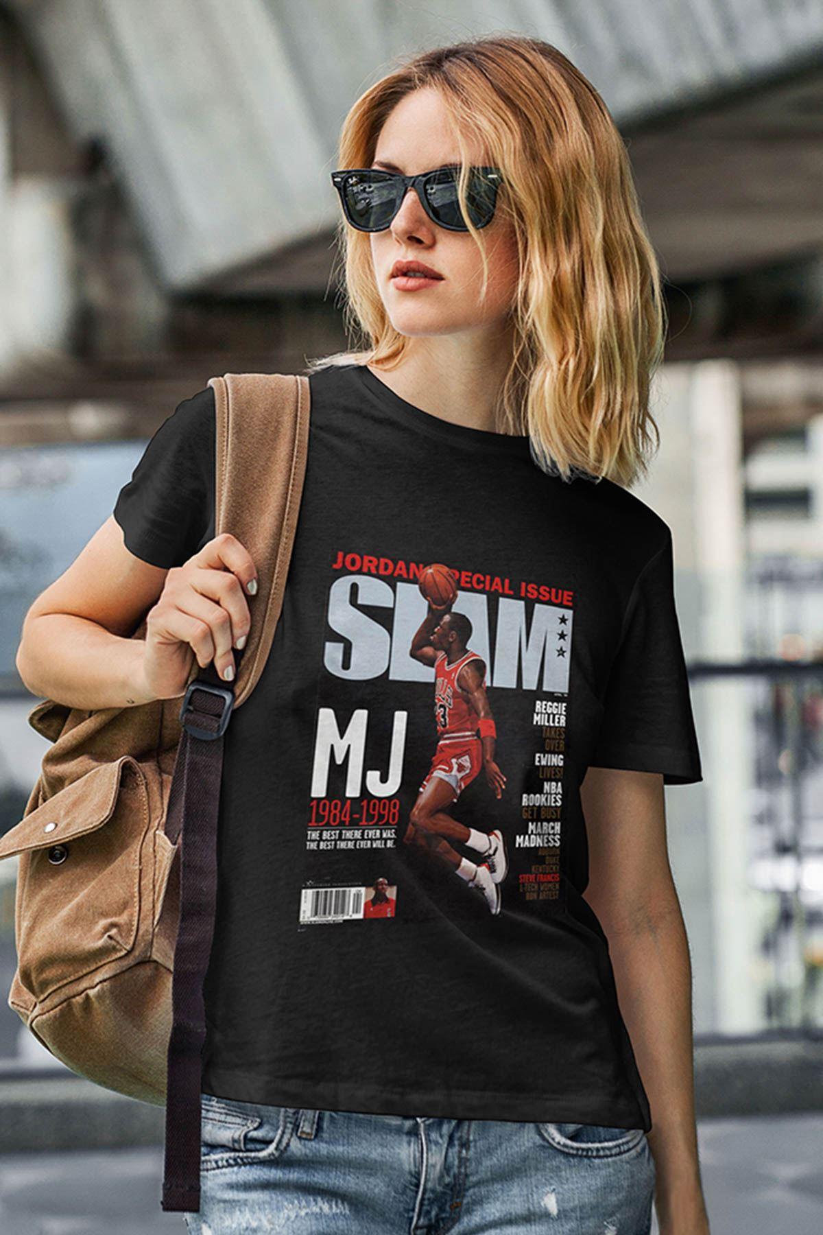 Air Jordan 41 Siyah NBA Kadın Tshirt - Tişört