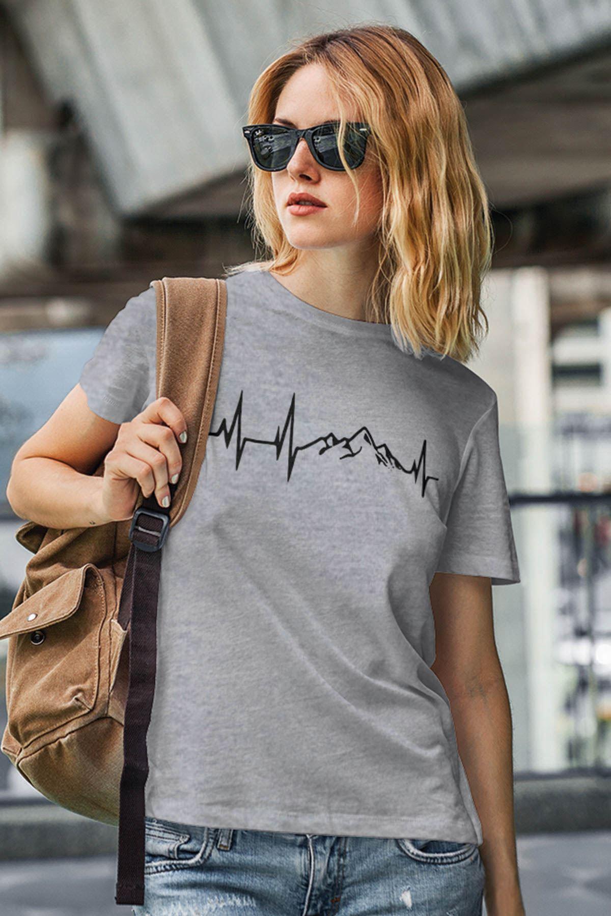 Dağ Gri Outdoor Kadın Tshirt - Tişört