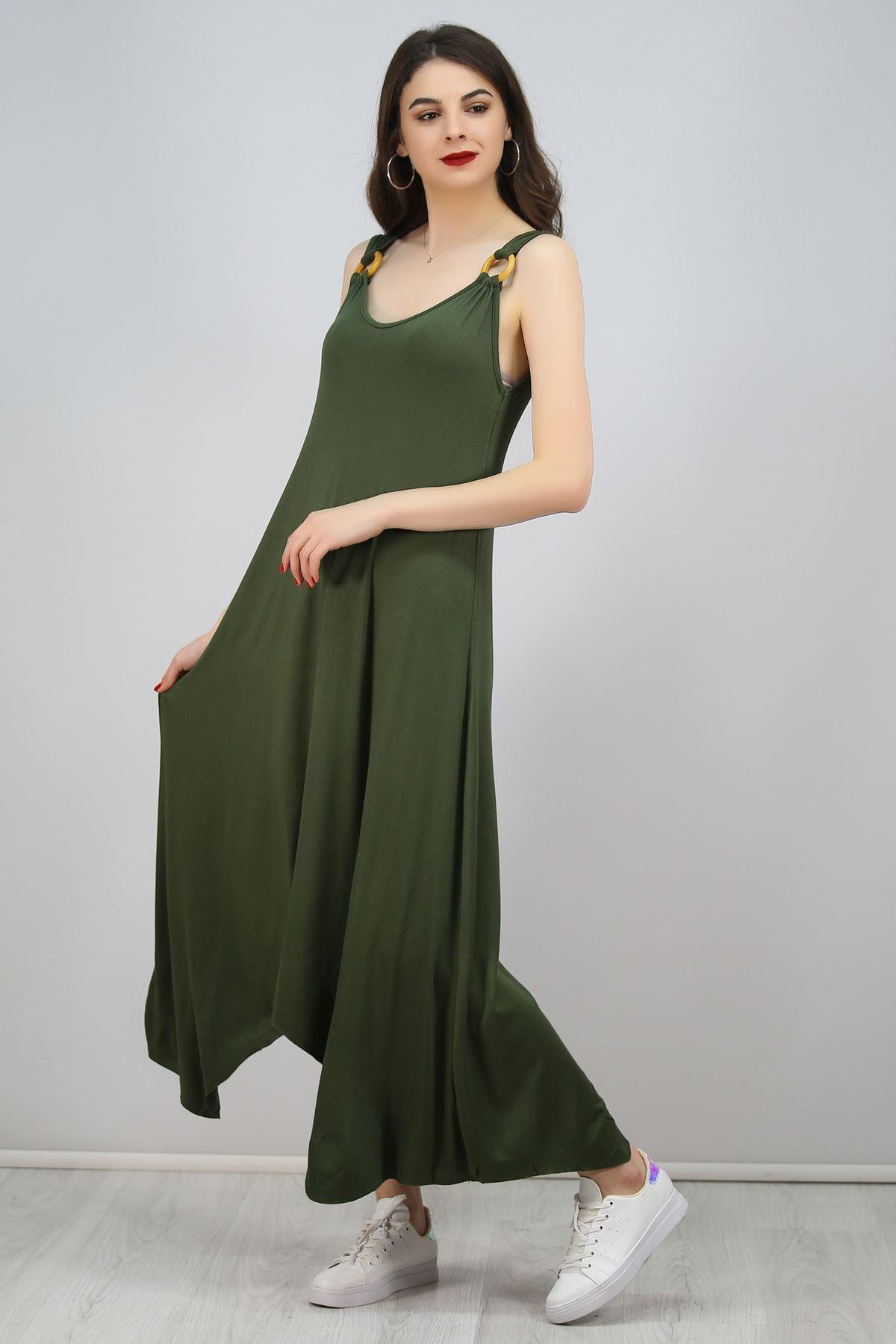Halkalı Elbise Haki - 1245.1095.