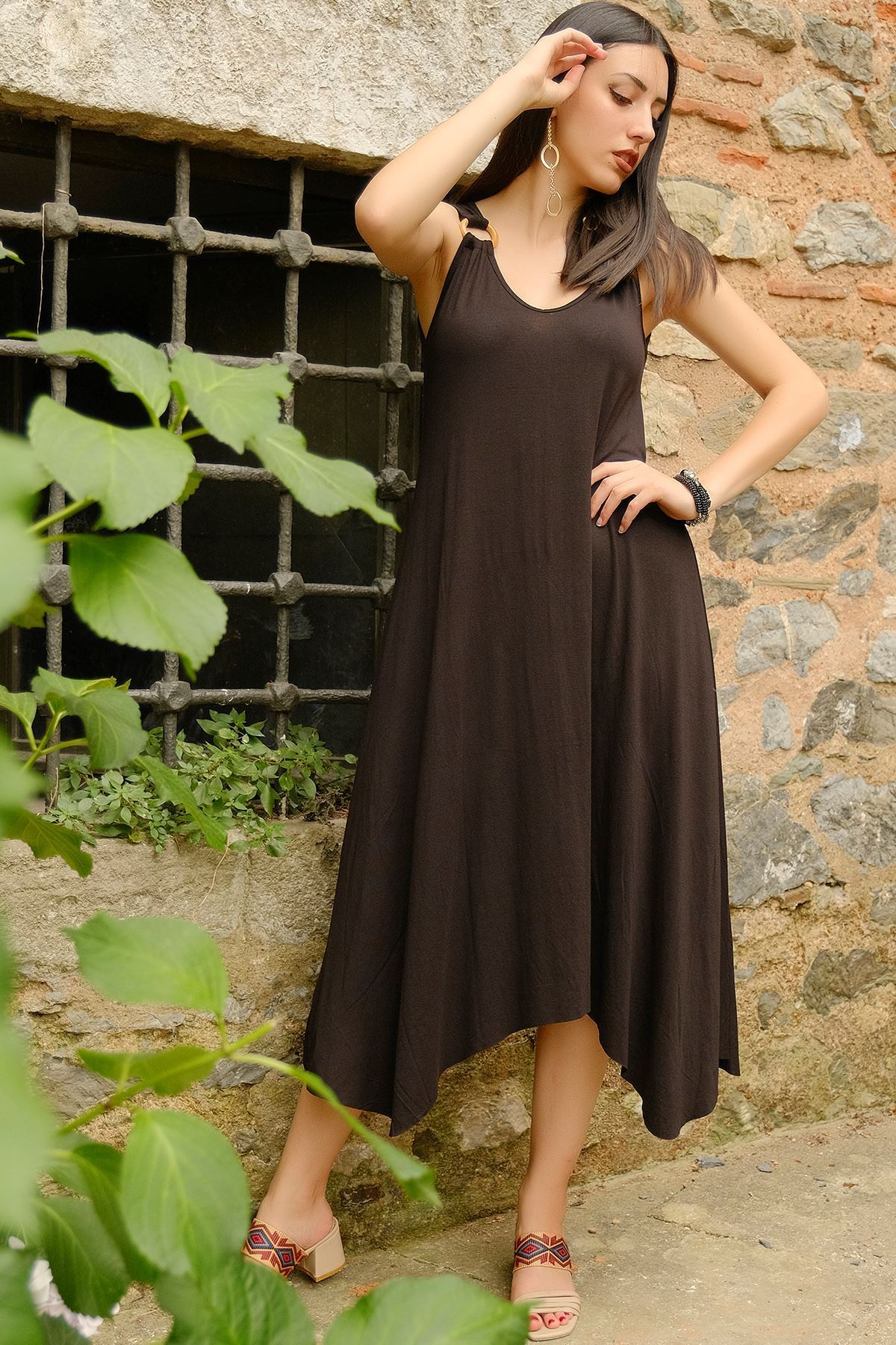 Halkalı Elbise Siyah - 1245.1095.
