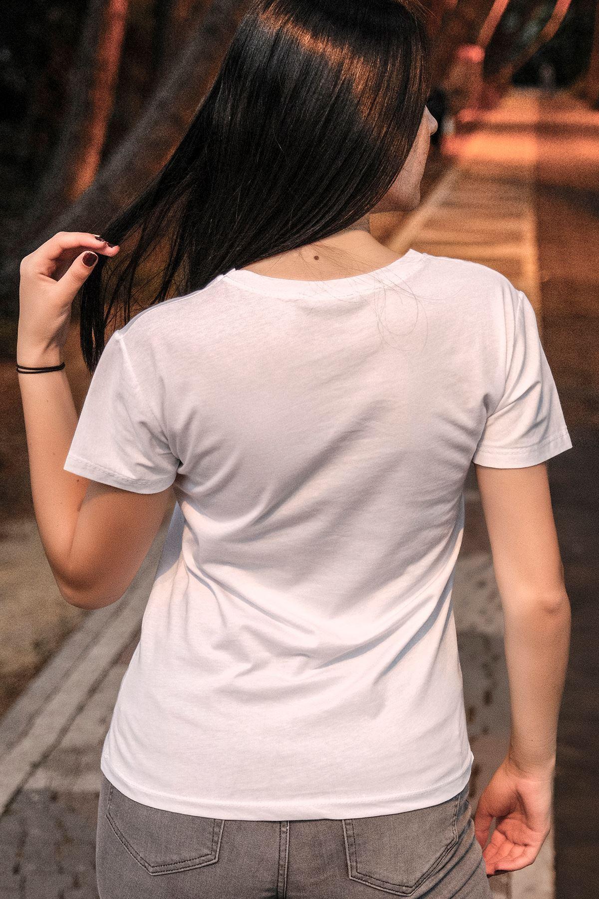 Ananas Baskılı Tişört Beyaz - 2103.336.