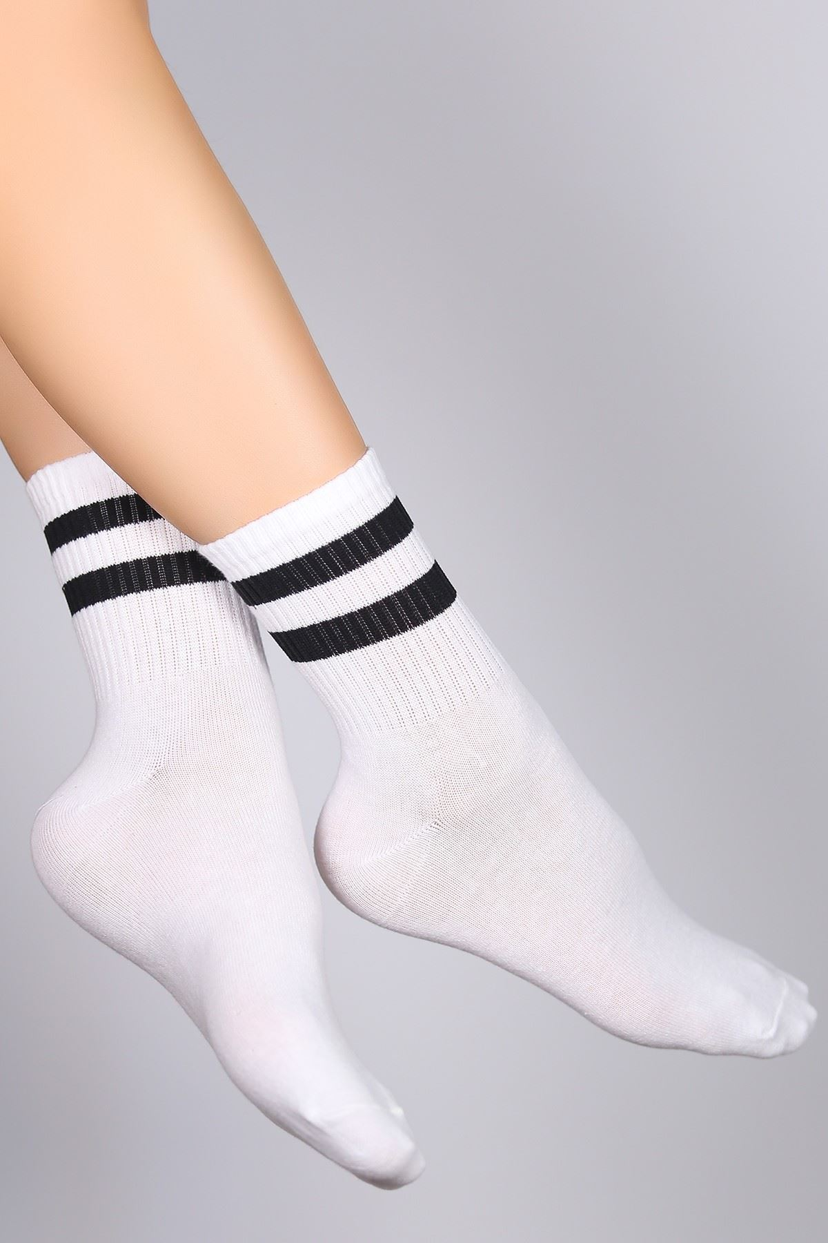 Soket Çorap Beyazçizgili - 10101.1114.