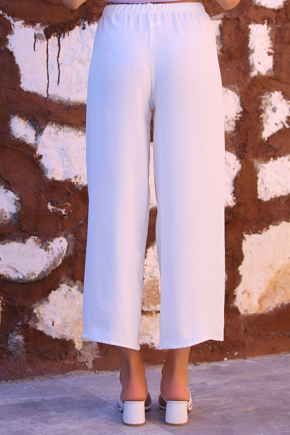Rahat Pantolon Beyaz - 4302.1207.